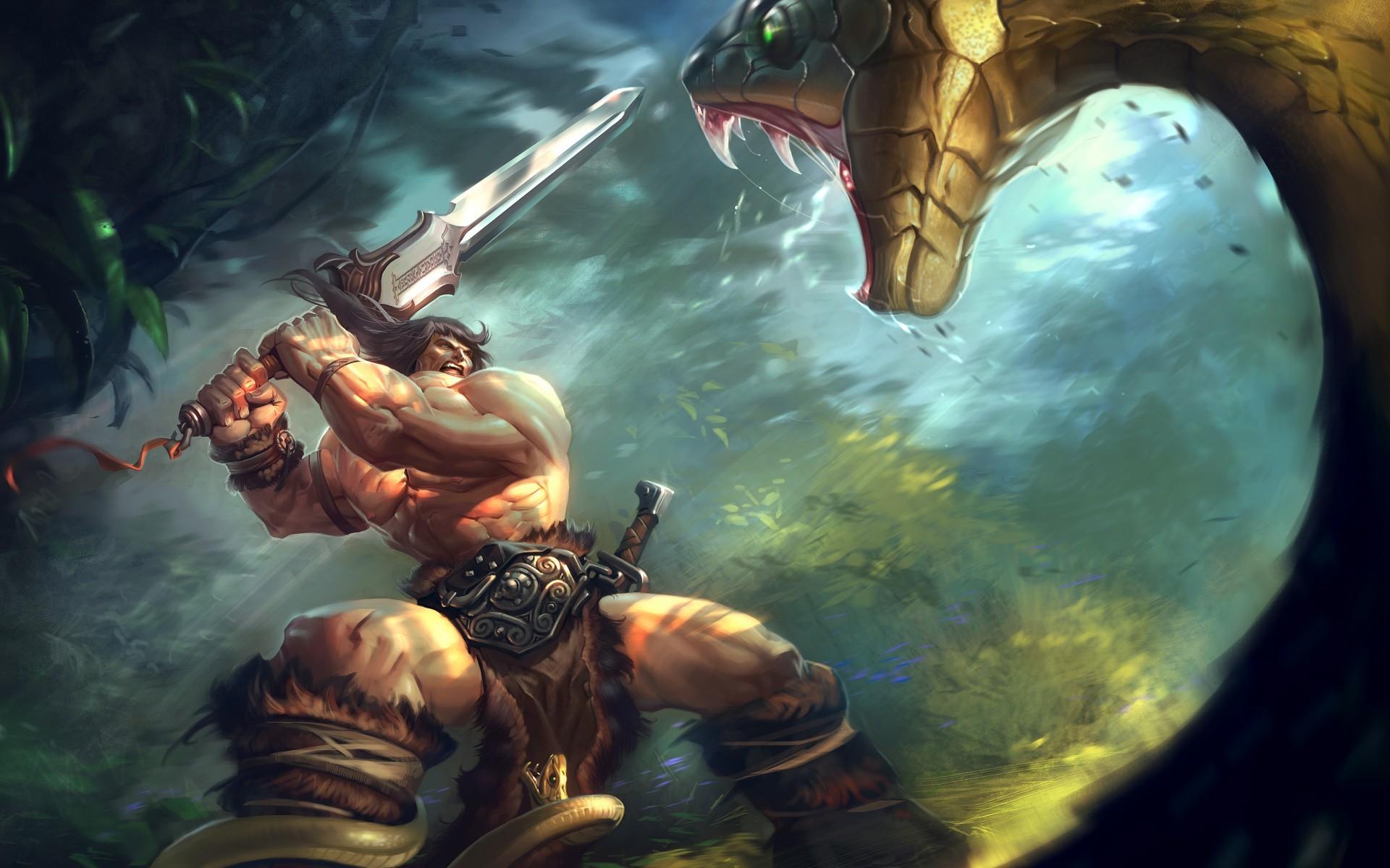 Wallpaper 1920x1200 Px Art Barbarian Conan Fantasy