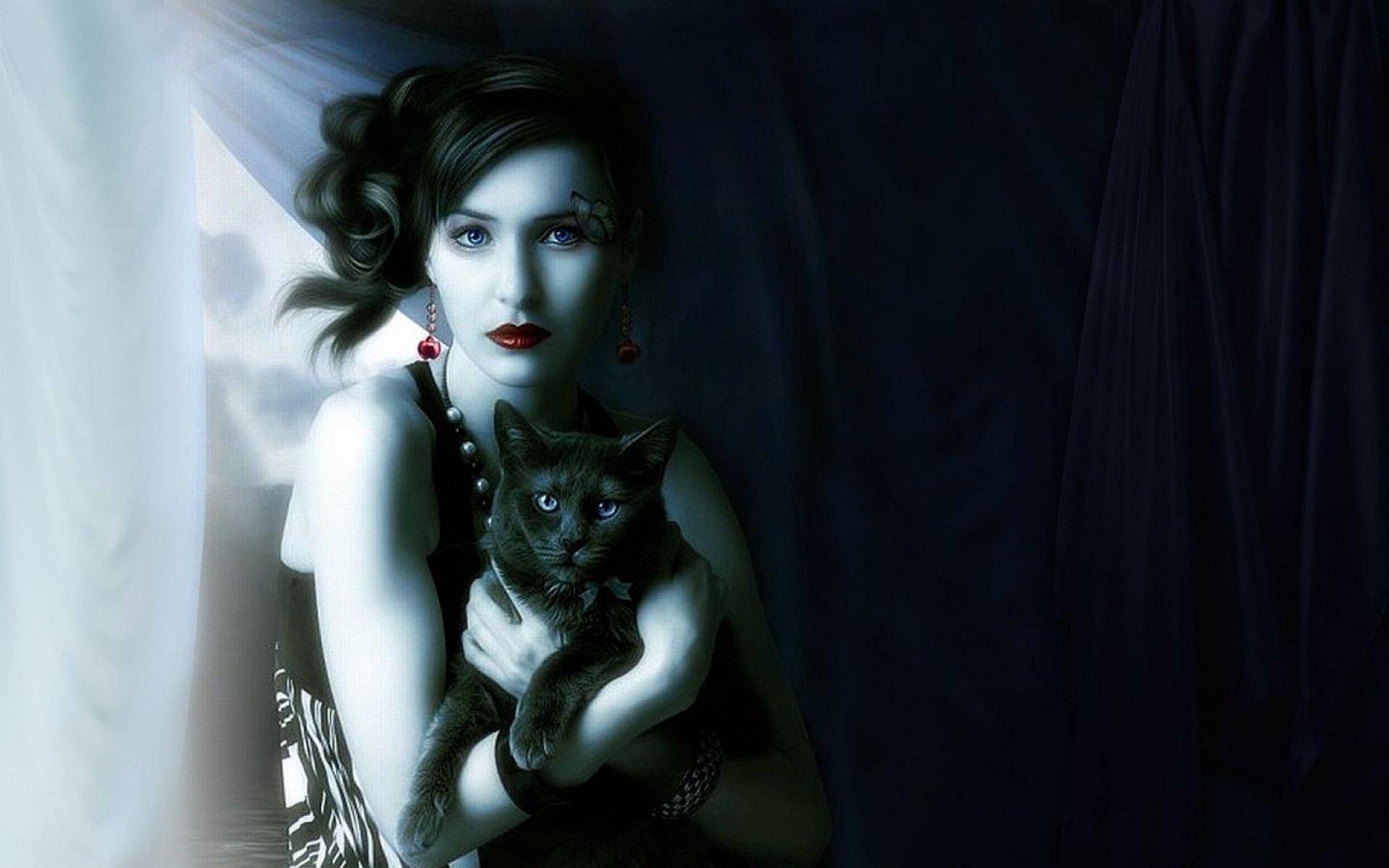 около кошка ведьма картинки работа будет плодотворной
