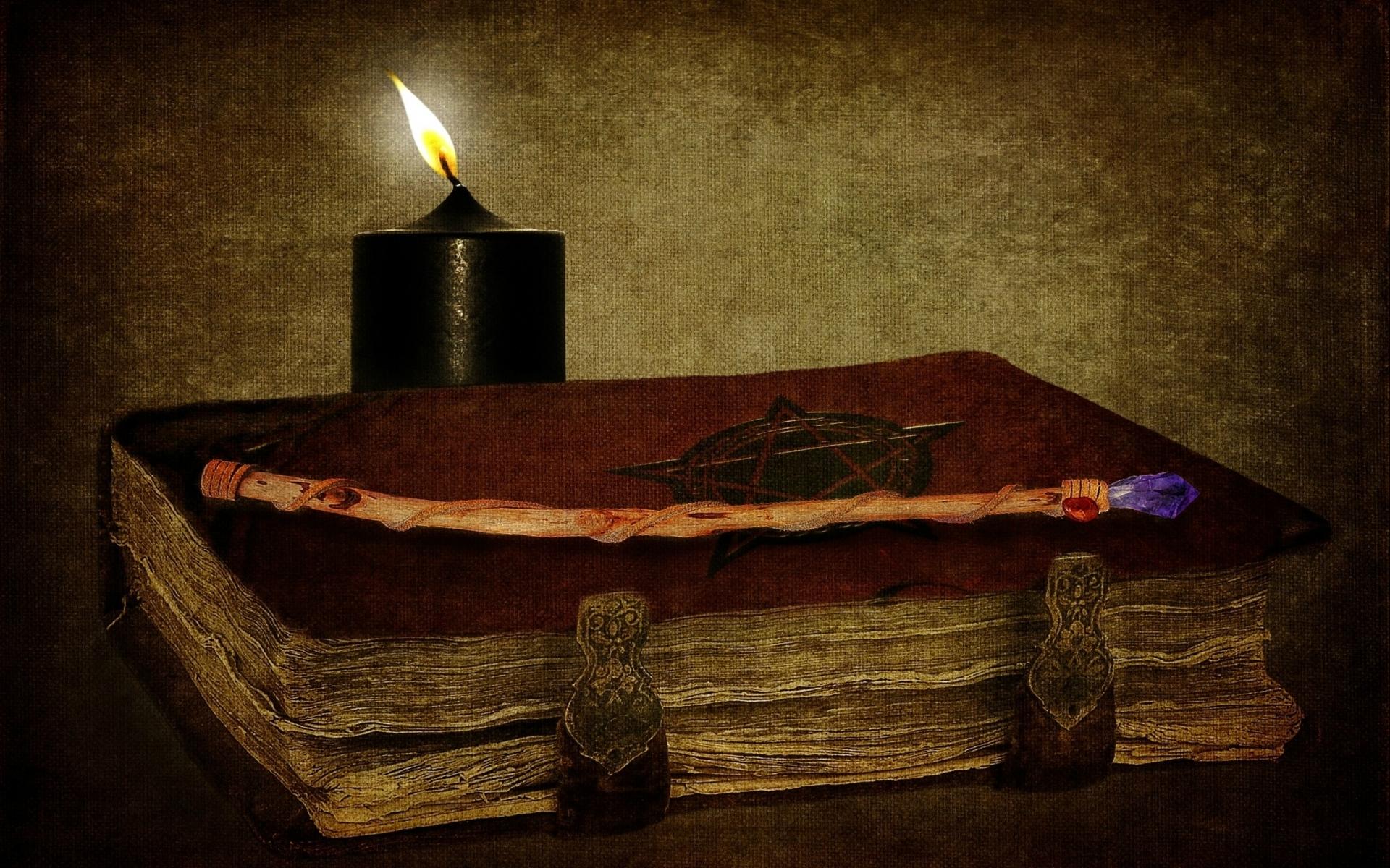 Wallpaper : 1920x1200 px, ART, book, candles, dark, Gothic