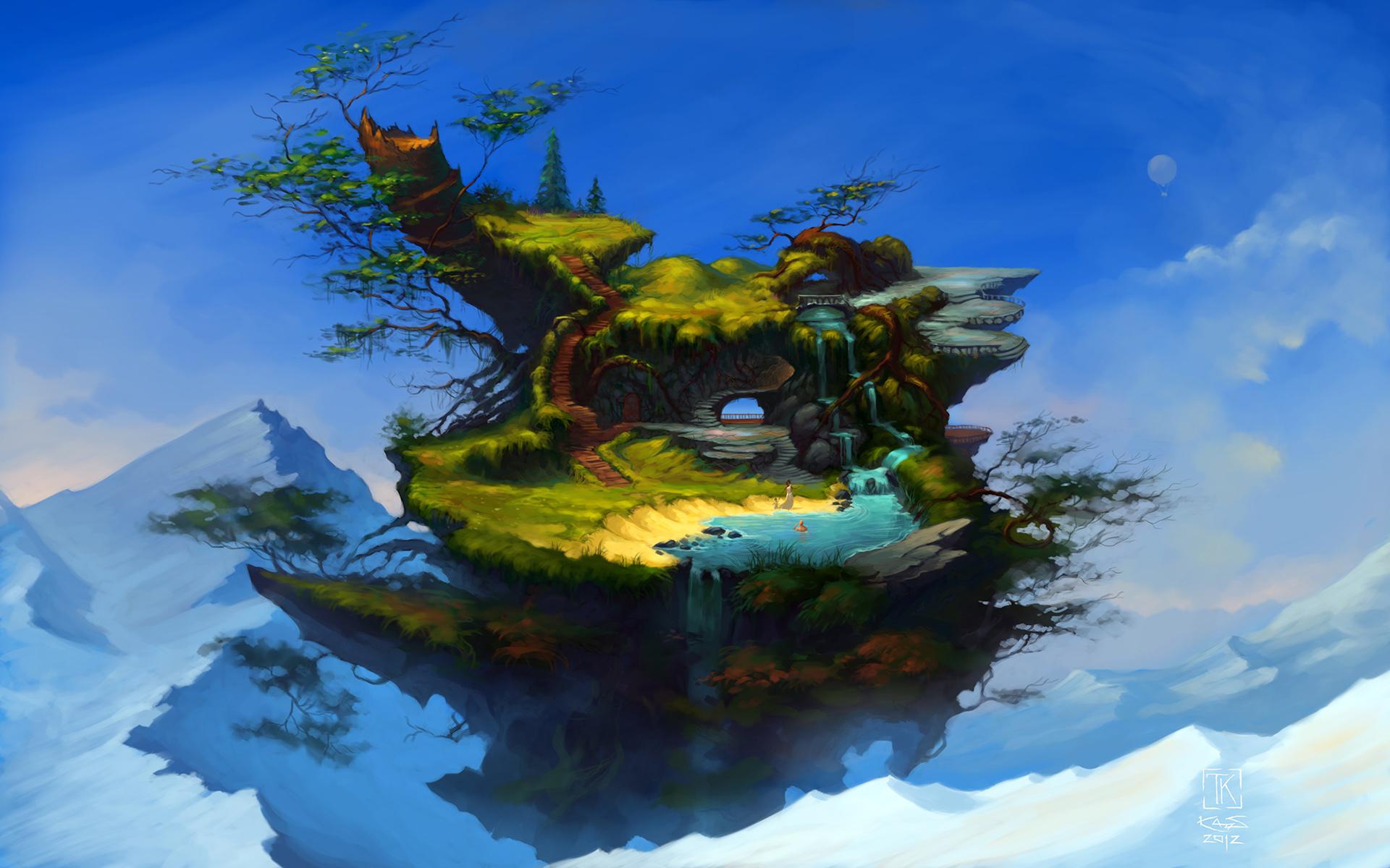 воздушные острова картинки