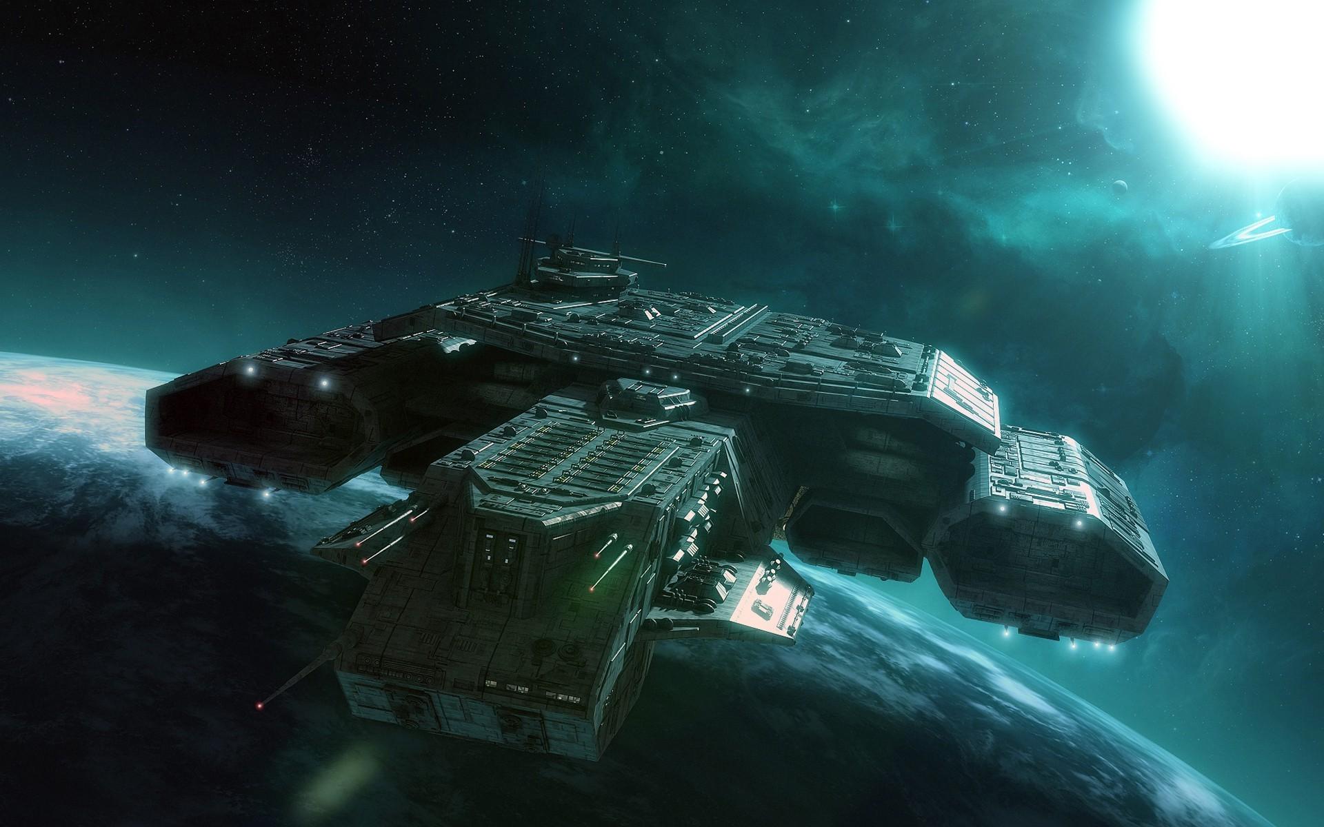Обои для рабочего стола космические корабли будущего