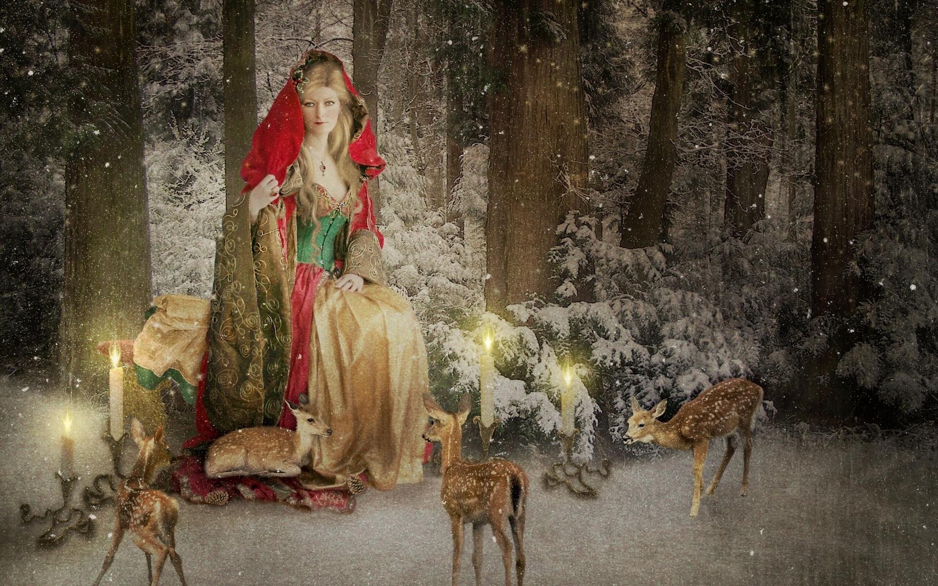 Красивые рождественские картинки фэнтези