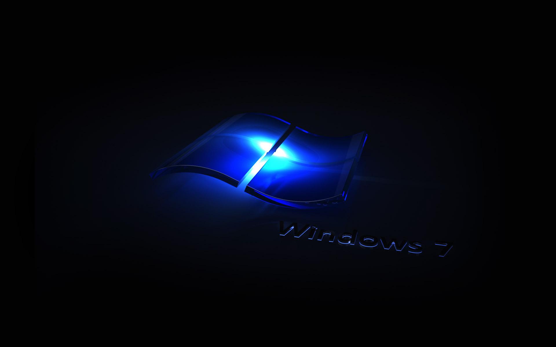 1920x1200 Px Windows 7 Blue Neon Wallpaper