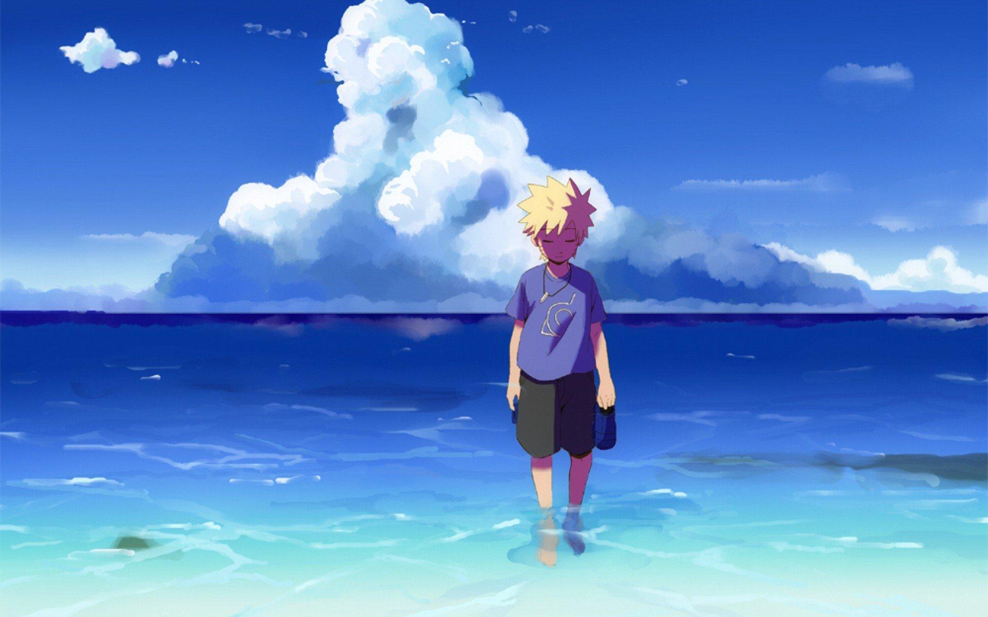 1920x1200 Px Anime Beach Digital Art Landscape Masashi Kishimoto Naruto Shippuuden Uzumaki Water