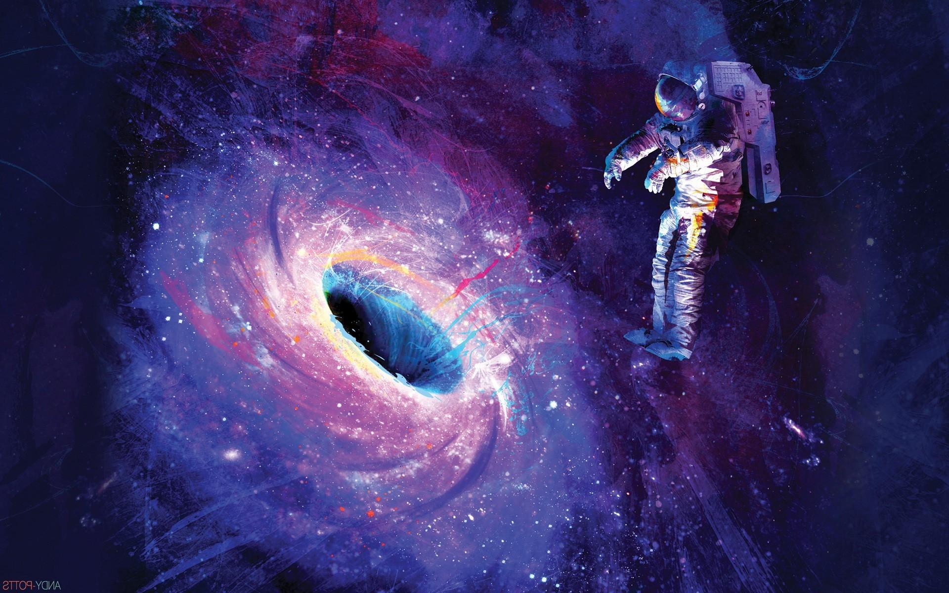 Wallpaper 1920x1200 Px Artwork Astronaut Black Holes Digital