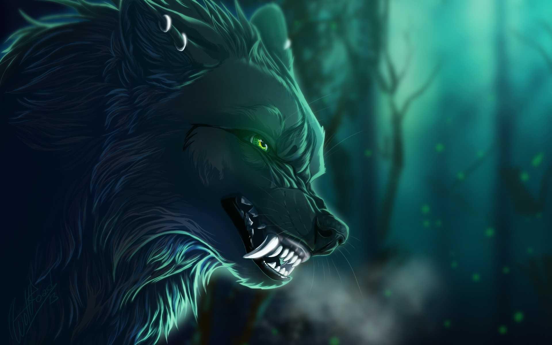 Картинки волк зеленый