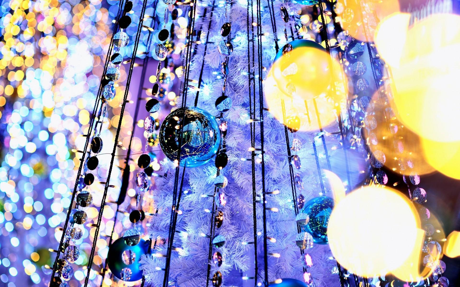 wallpaper : 1920x1200 px, balls, bokeh, garland, holiday, light