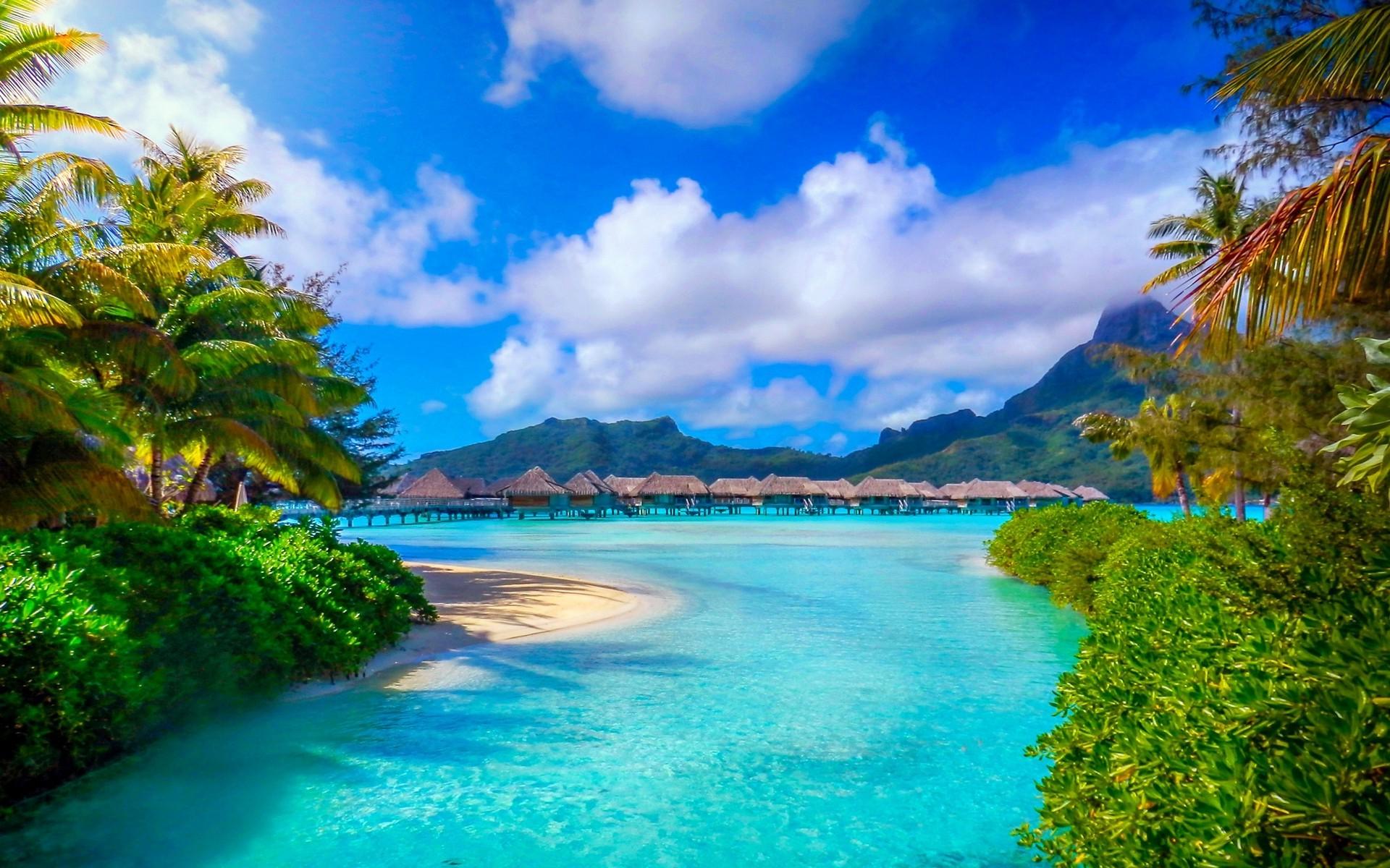 wallpaper : 1920x1200 px, beach, bora bora, french polynesia, island