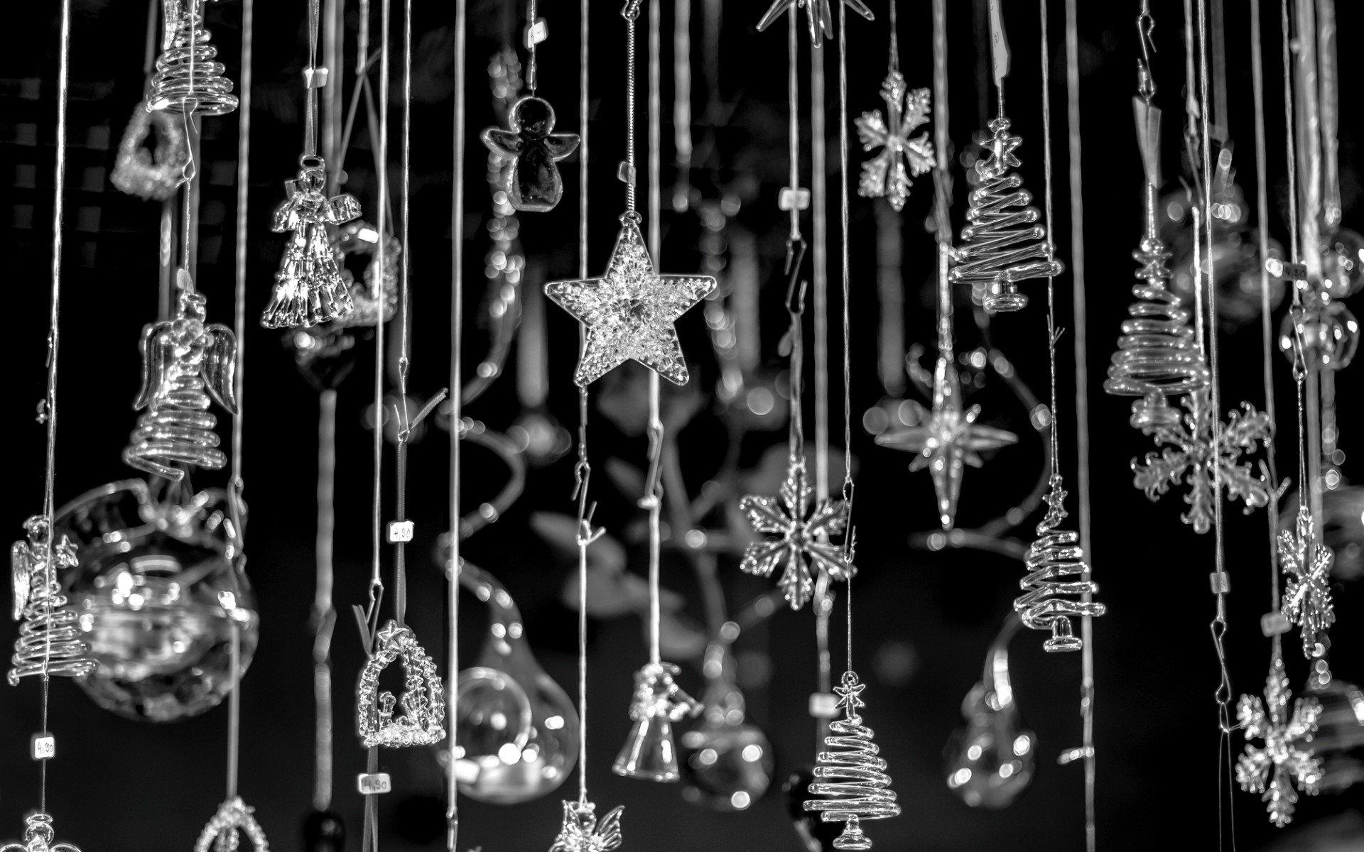 Wallpaper : 1920x1200 px, black, bokeh, chain, Christmas, holidays