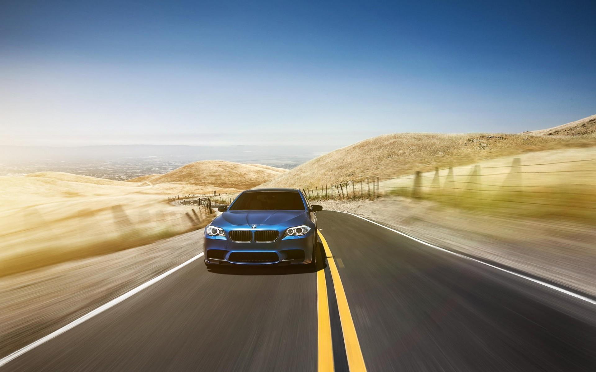 Wallpaper : 1920x1200 px, blue cars, BMW M5, car, road ...