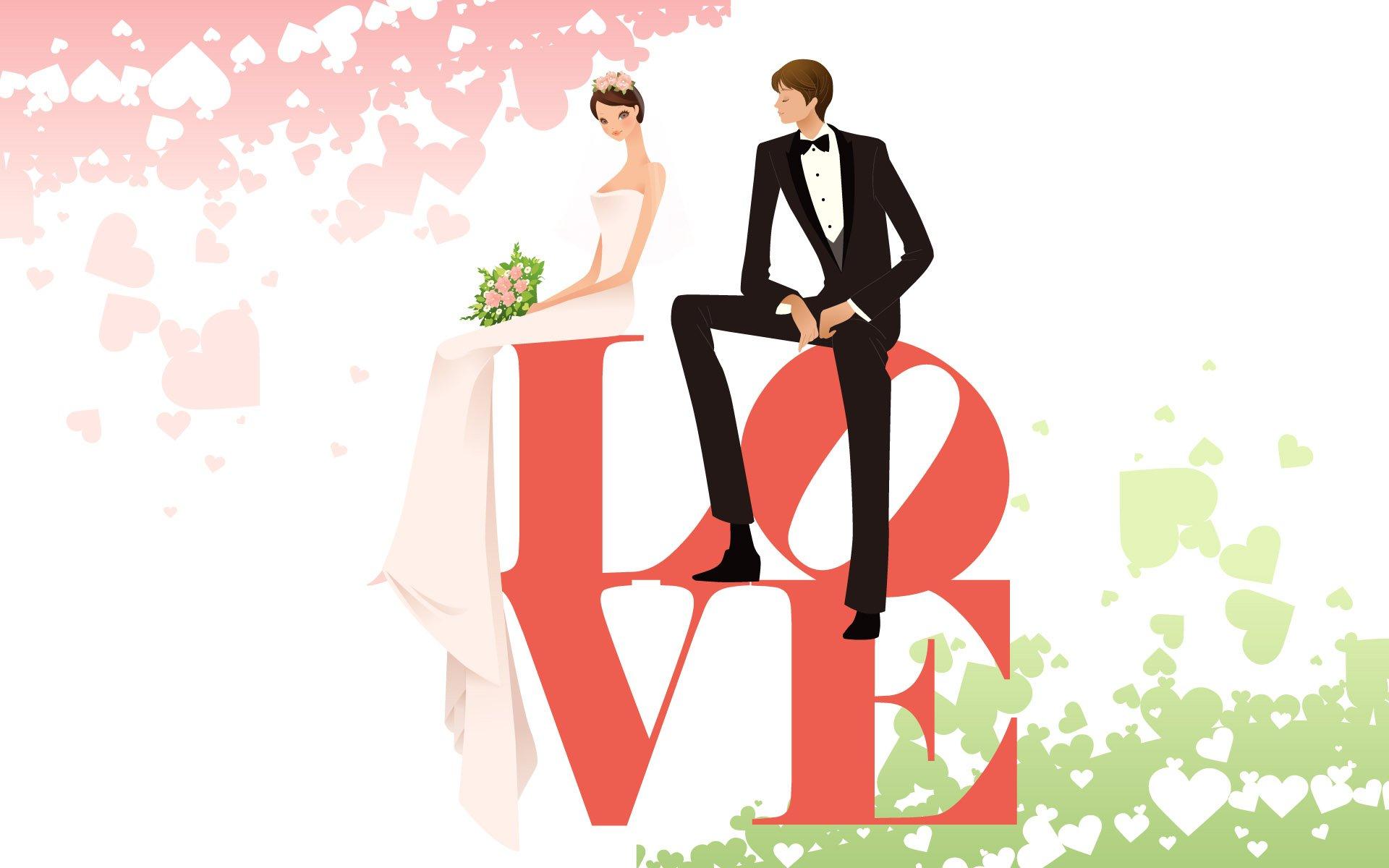 Креативная открытка с днем свадьбы