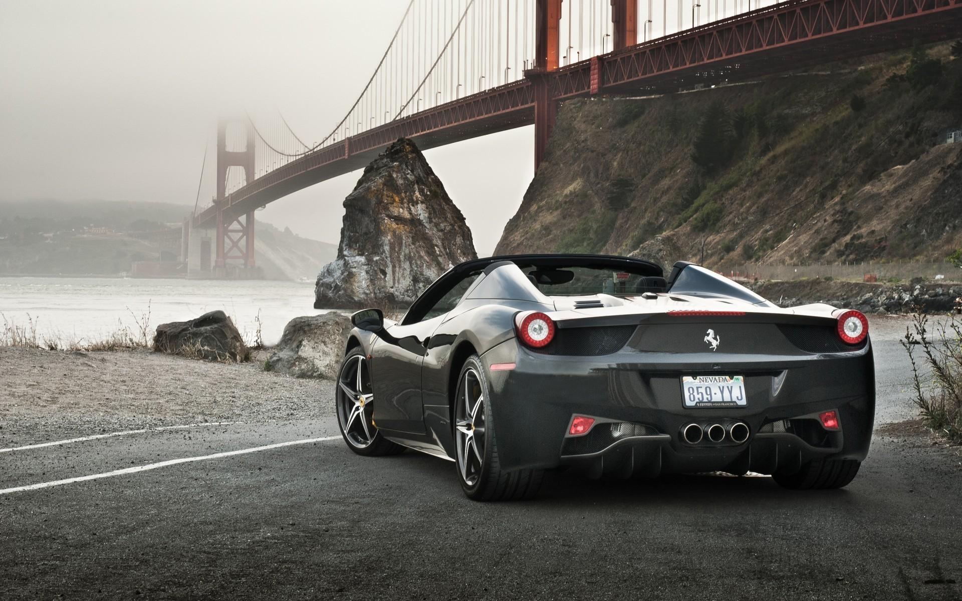1920x1200 Px Bridge Ferrari 458 Spider Road