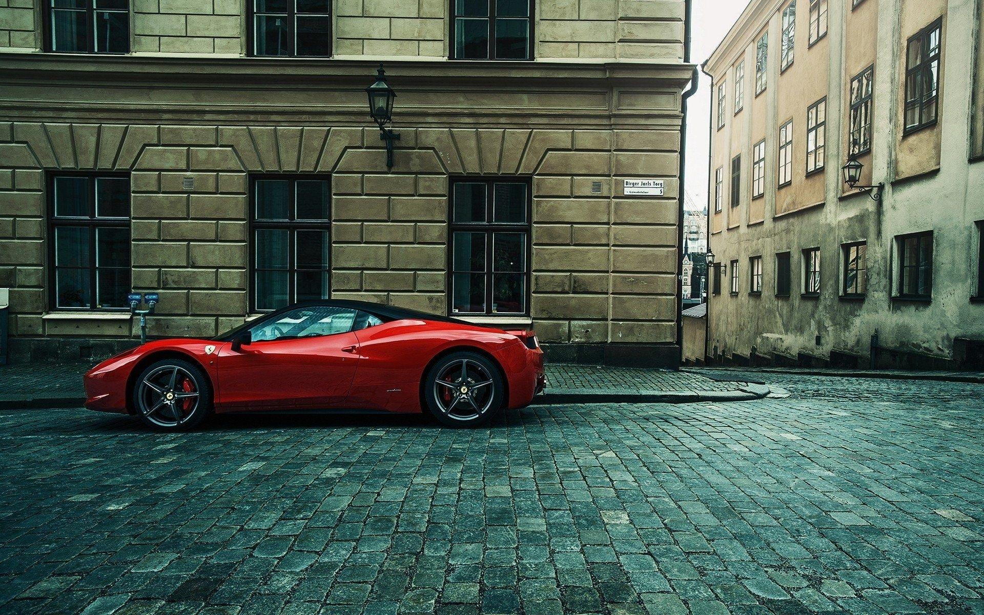 1920x1200 Px Building Car Cobblestone Ferrari 458 Italia Street Urban