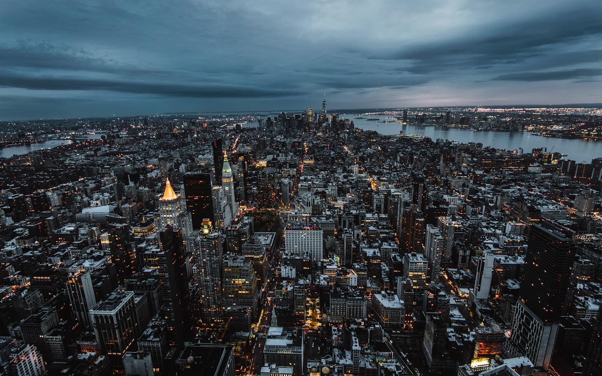 Нью йорк город фото сверху