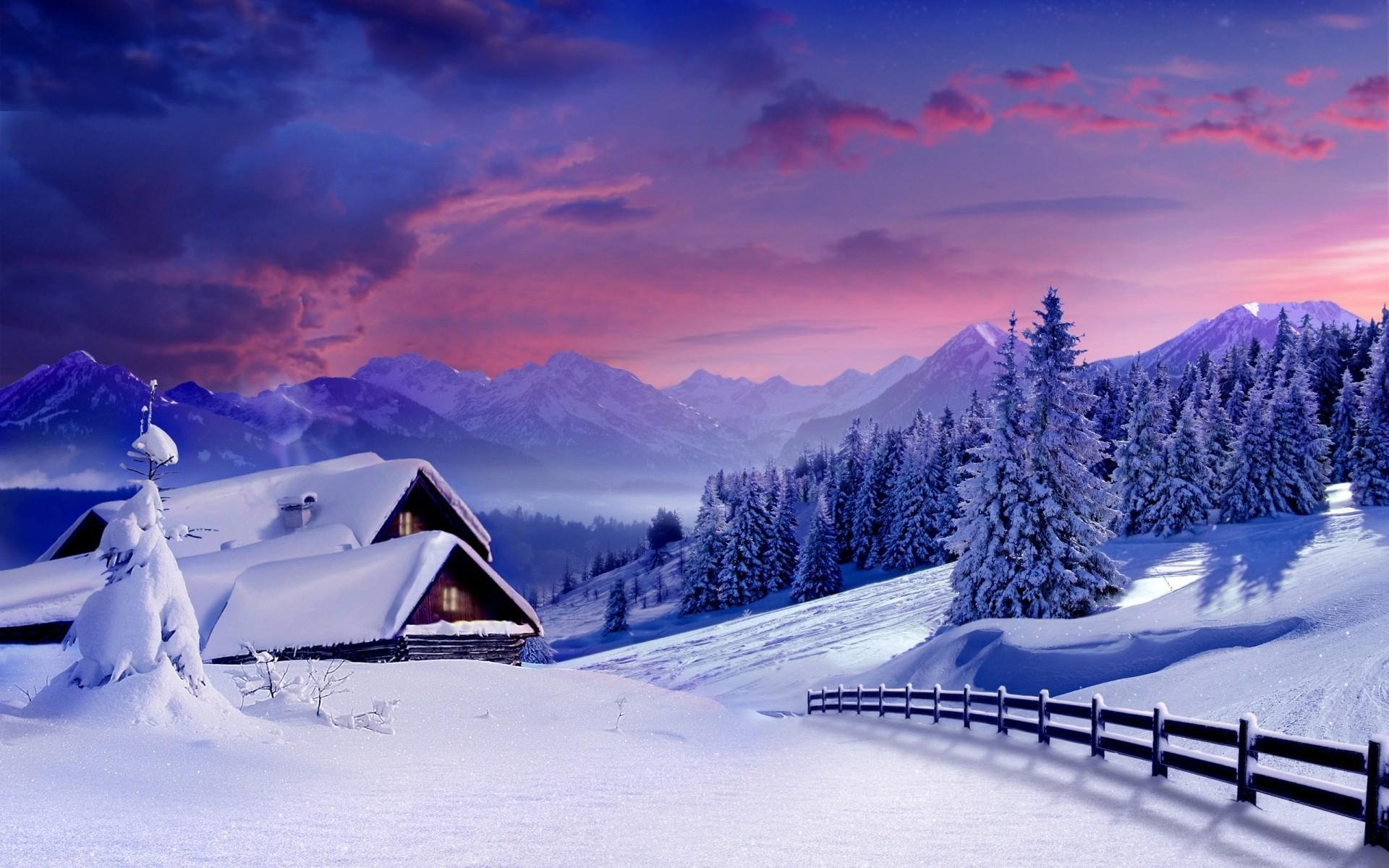 картинка снежные домики средние волосы можно