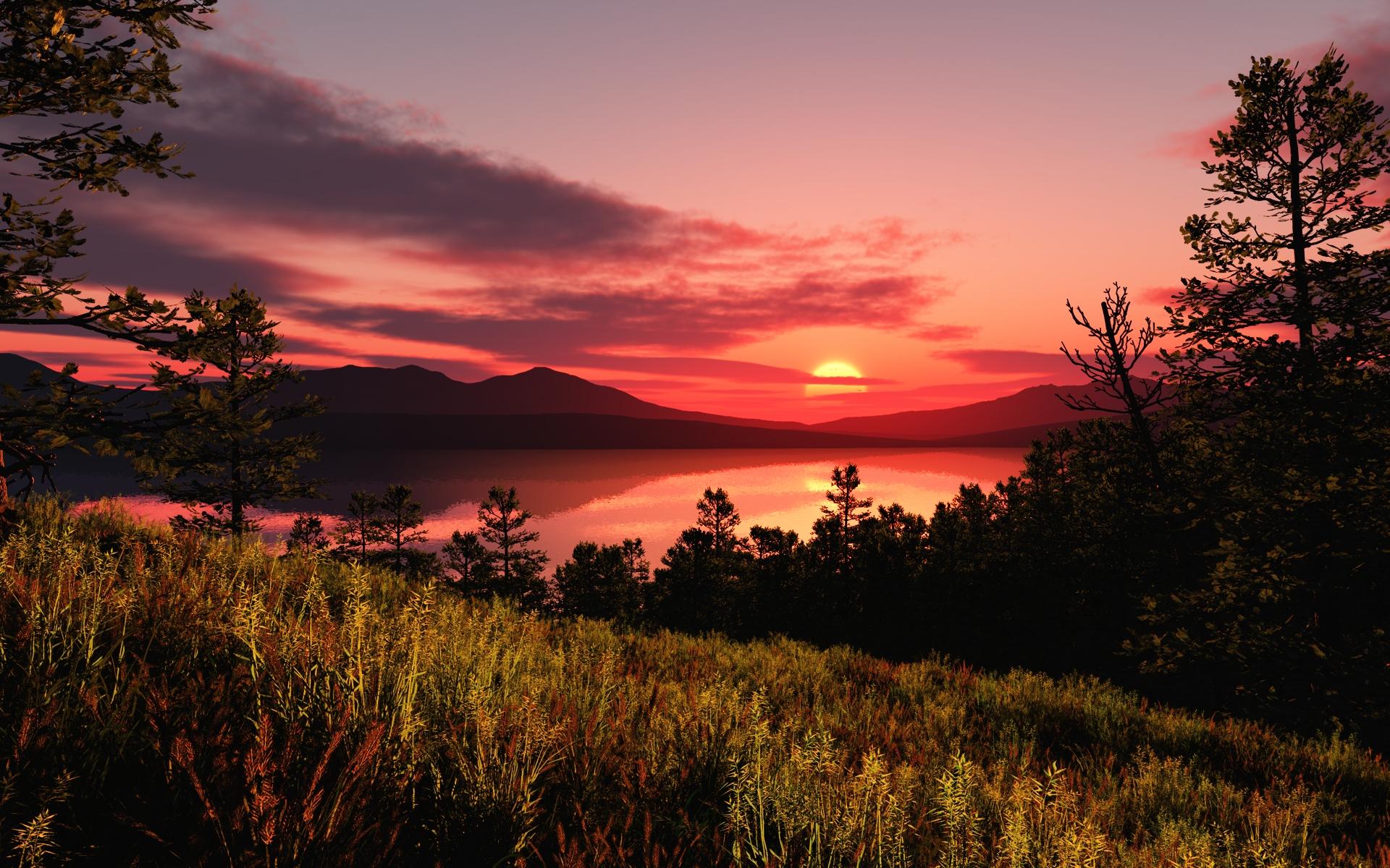 вот красивые картинки пейзаж закат мысли том