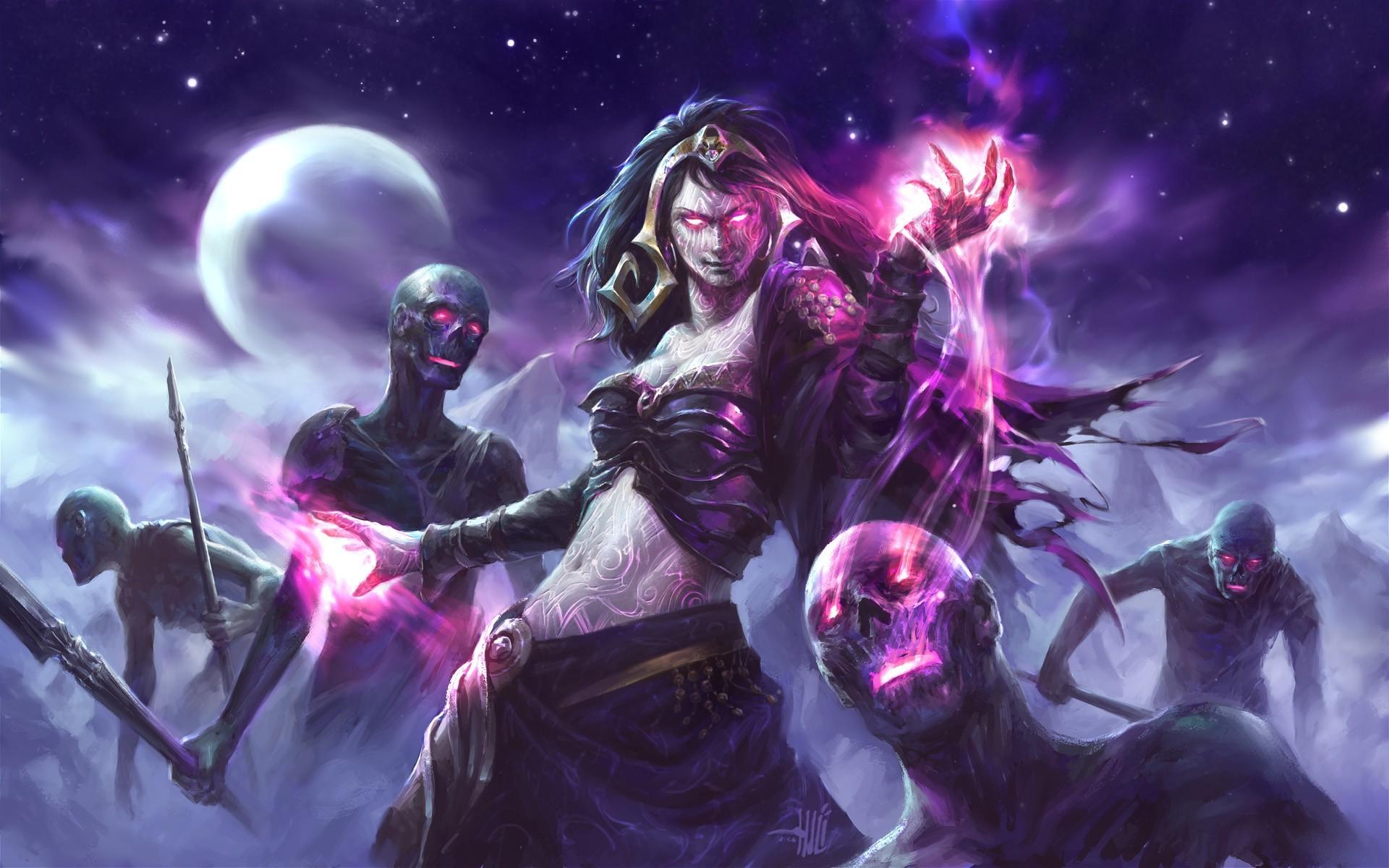 1920x1200 Px Fantasy Art Liliana Vess Magic The Gathering Witch Zombies
