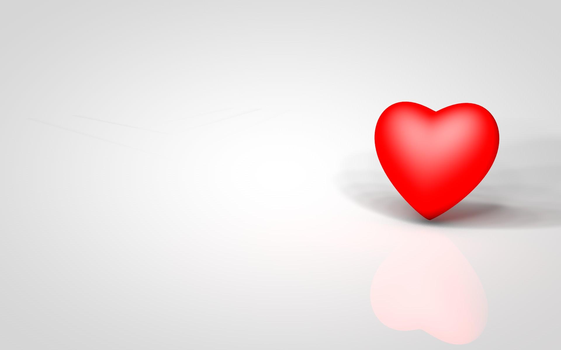 Белая картинка с сердечком