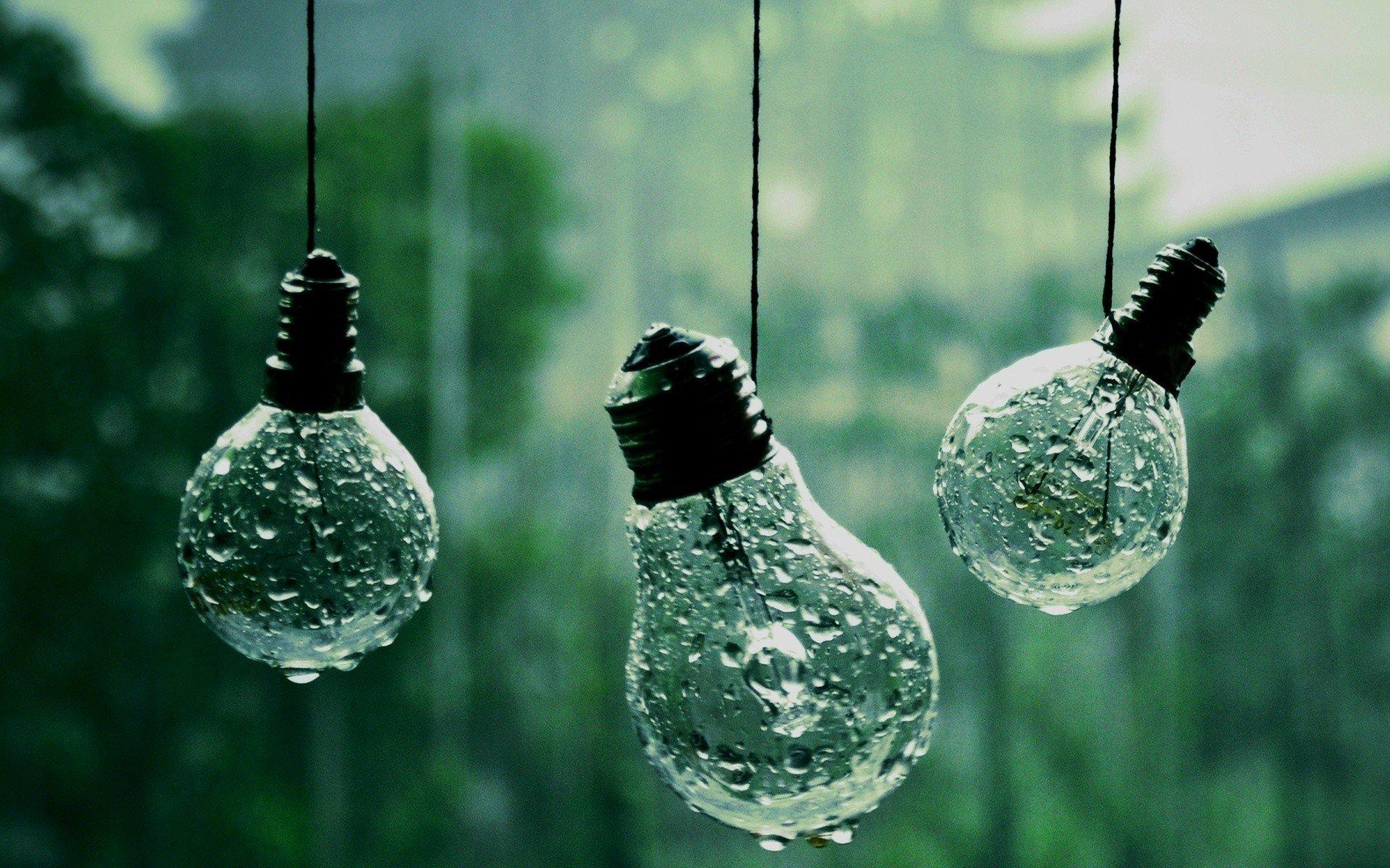 Wallpaper 1920x1200 Px Lightbulb Rain Water Drops 1920x1200 Images, Photos, Reviews