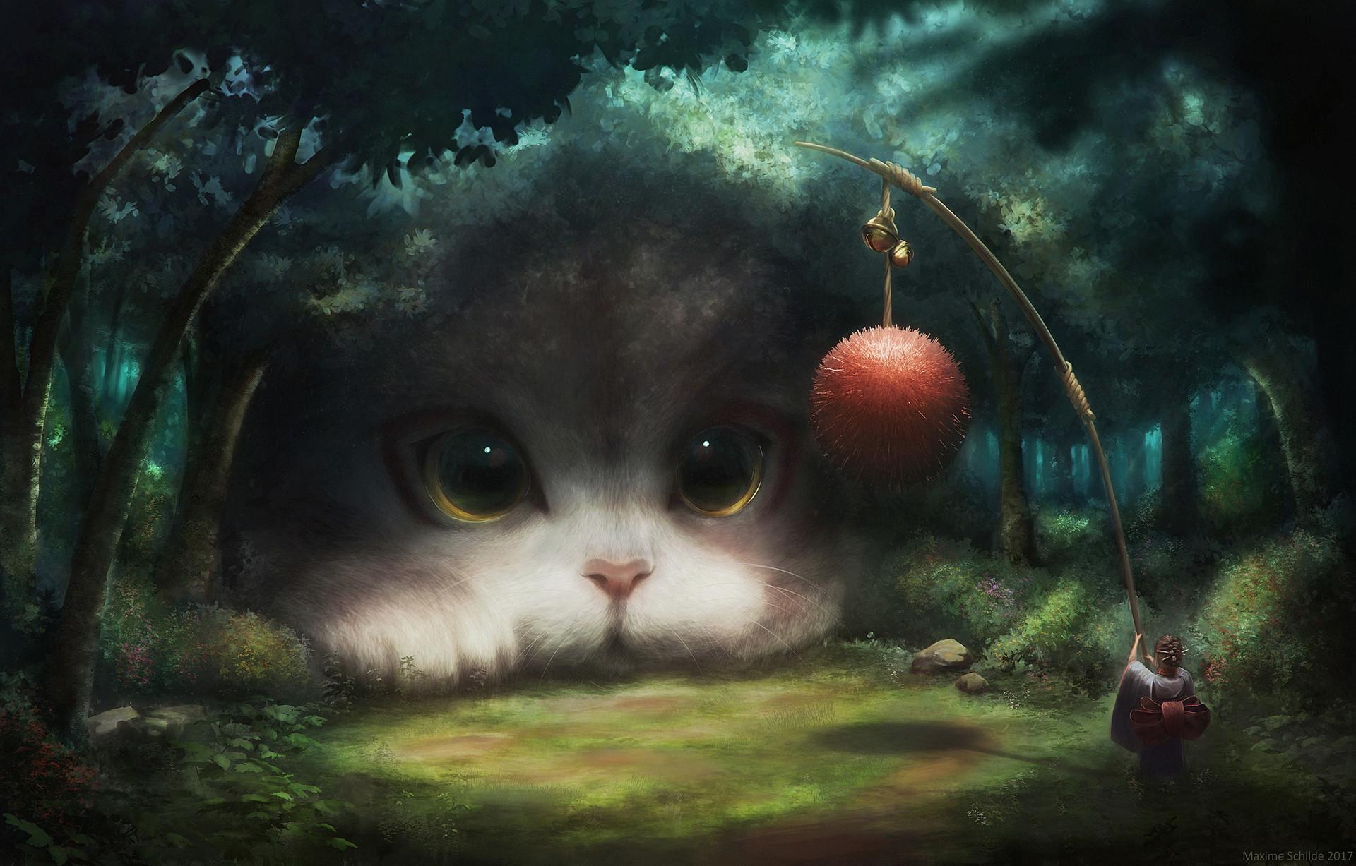 девушки красивые картинки котов фэнтези должна