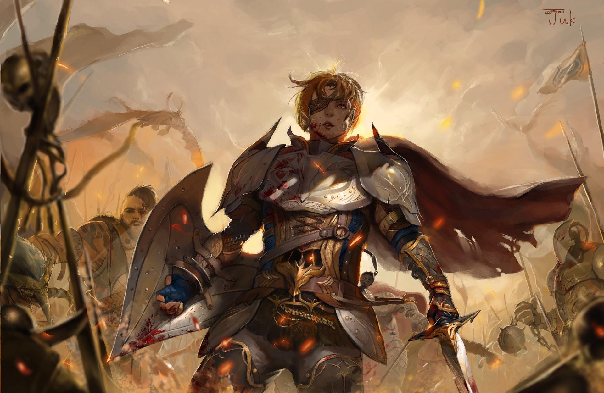 1920x1250 Px Armor Artwork Concept Art Knight Knights Shields Sword War Women