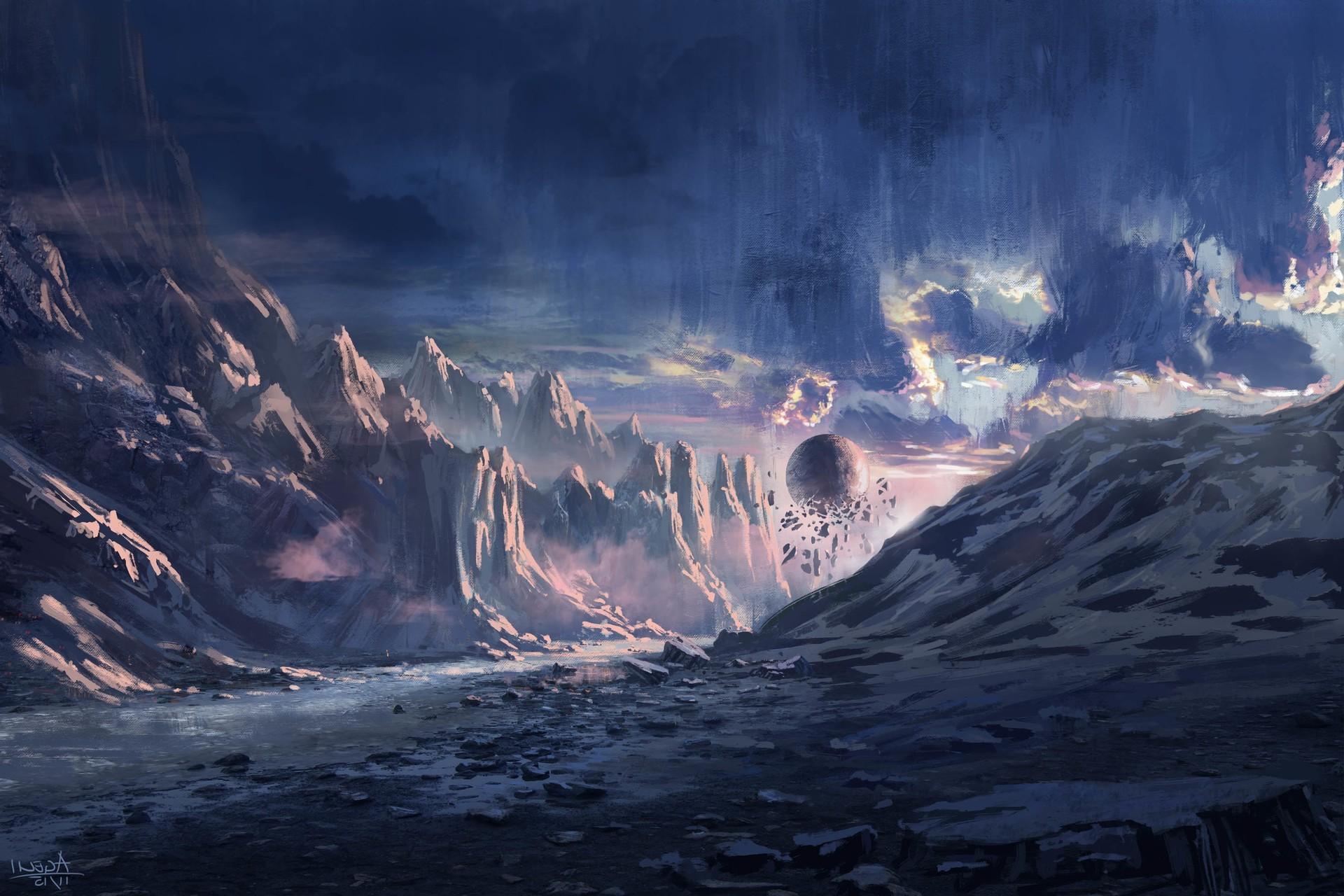 Beautiful Wallpaper Mountain Art - 1920x1280-px-artwork-digital-art-fantasy-art-mountain-1025439  Image_142720.jpg