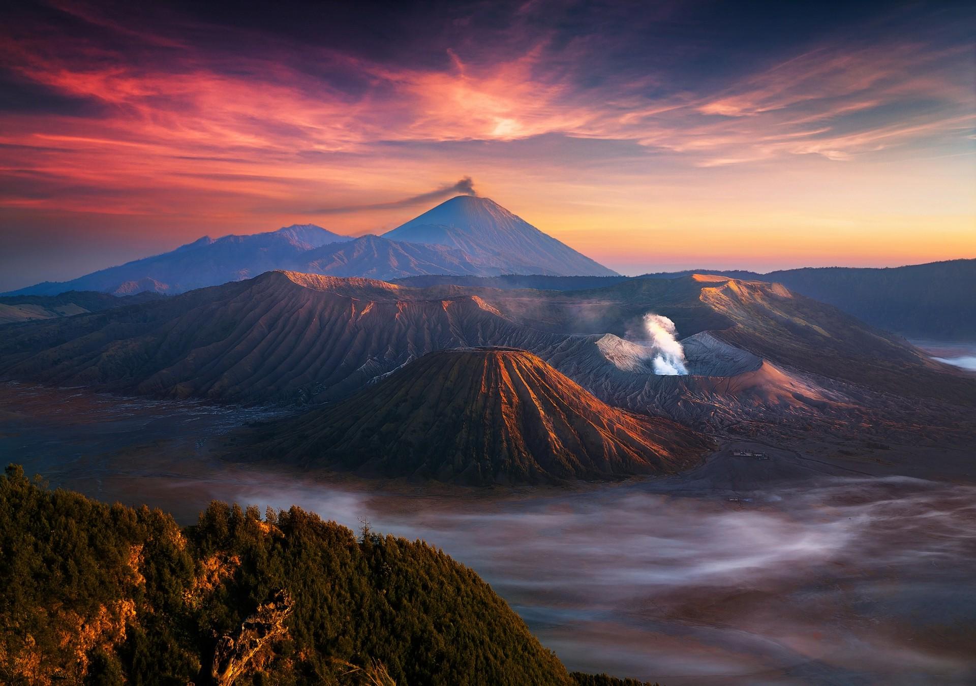 Wallpaper 1920x1350 Px Indonesia Landscape Mist Mountain