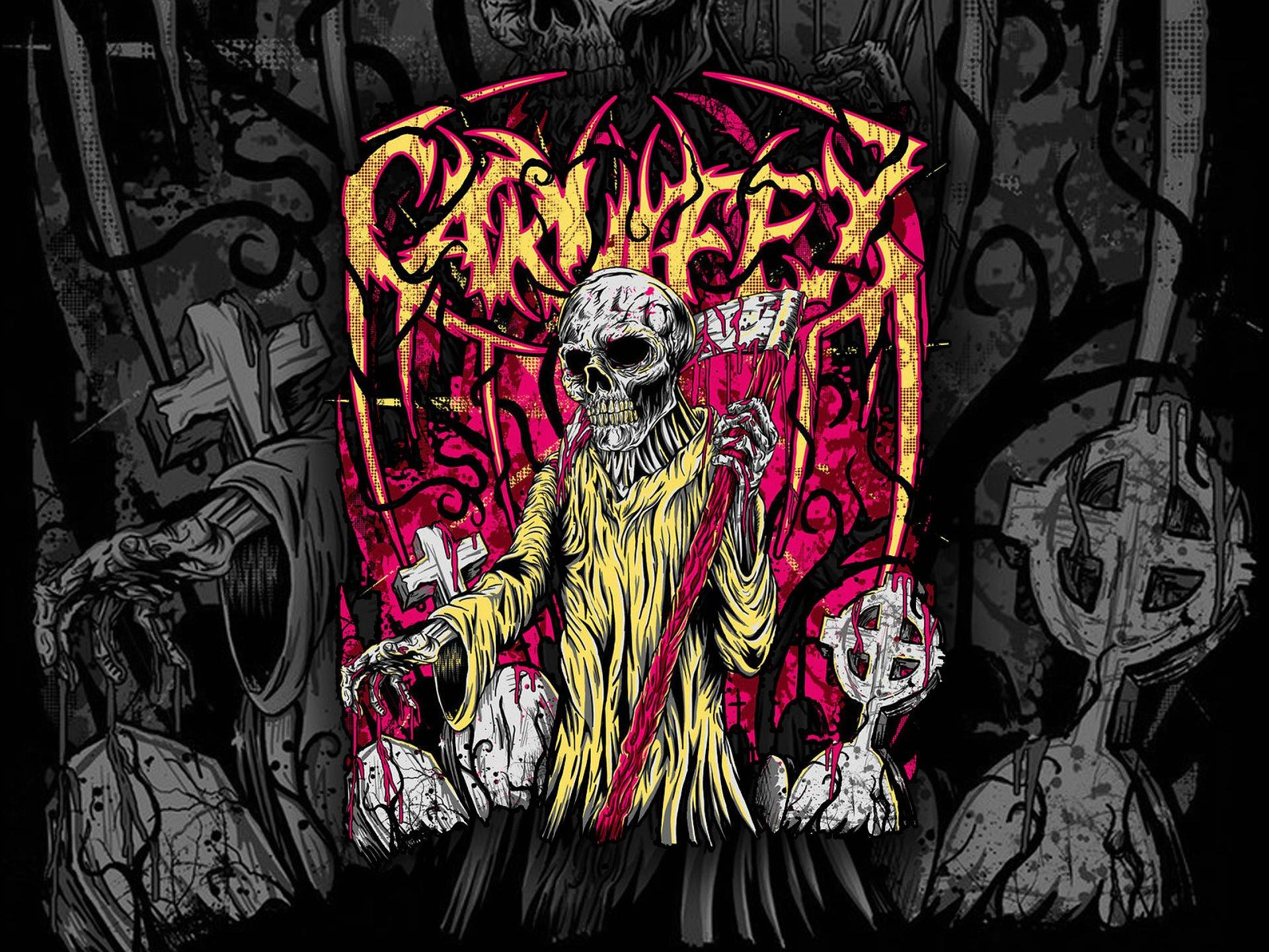 1920x1440 px 1carn carnifex dark death deathcore evil heavy metal poster reaper skull symphonic