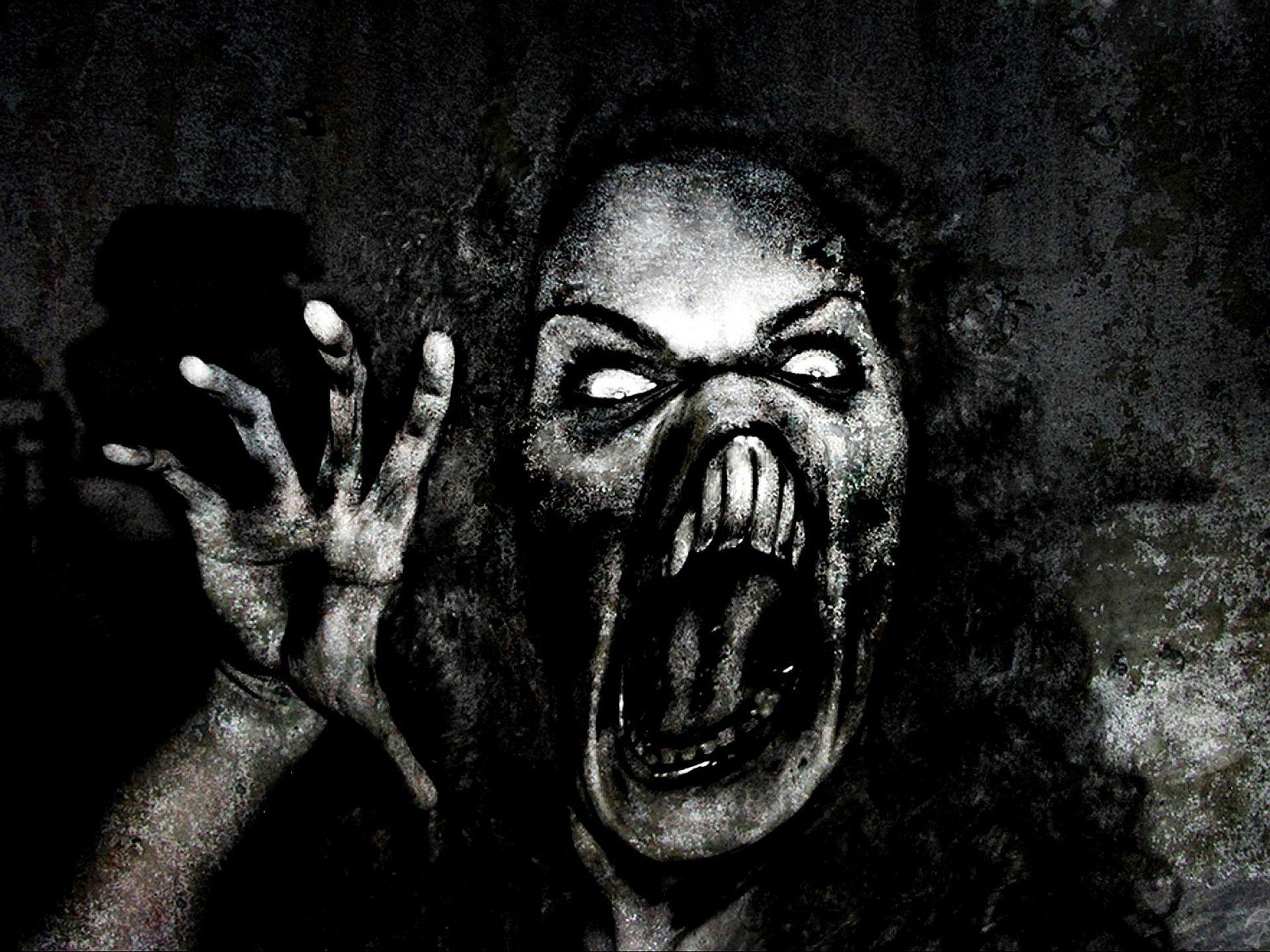 Пугающая картинка с криком