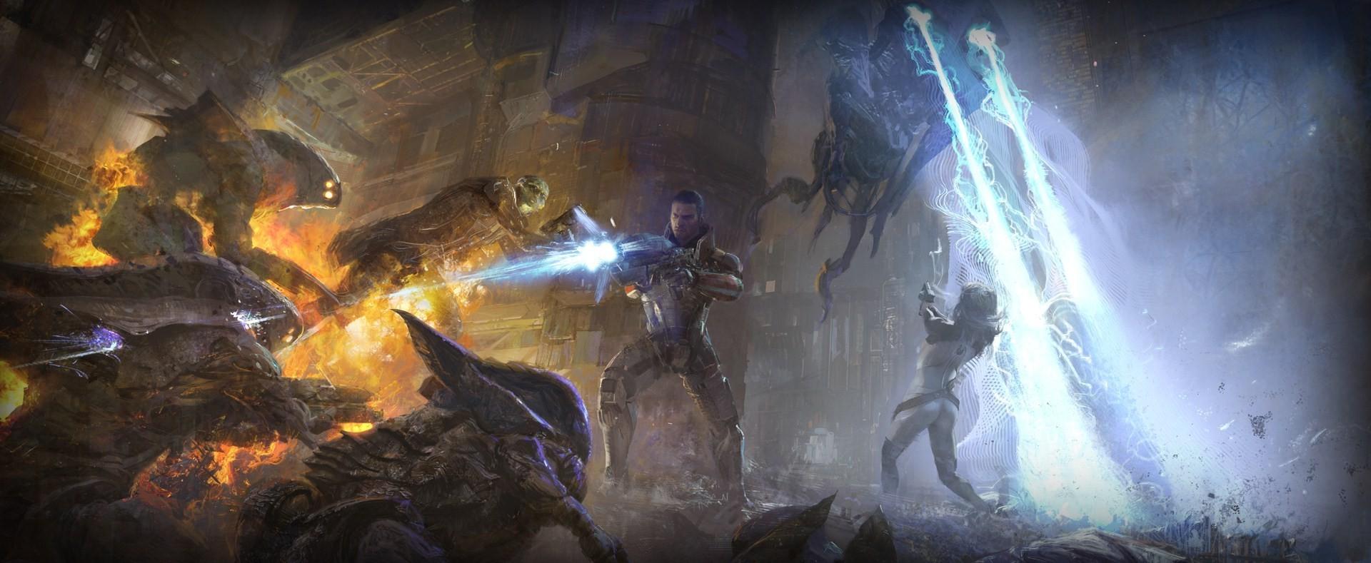 Wallpaper 1920x789 Px Commander Shepard Mass Effect