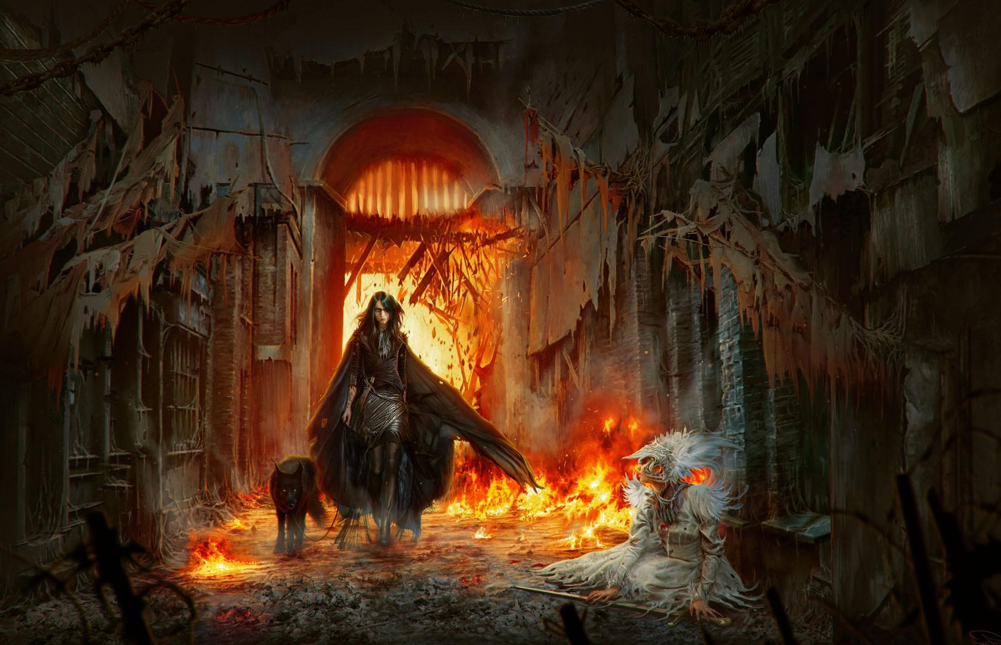 Wallpaper 2000x1288 Px Deviantart Fantasy Art Fire