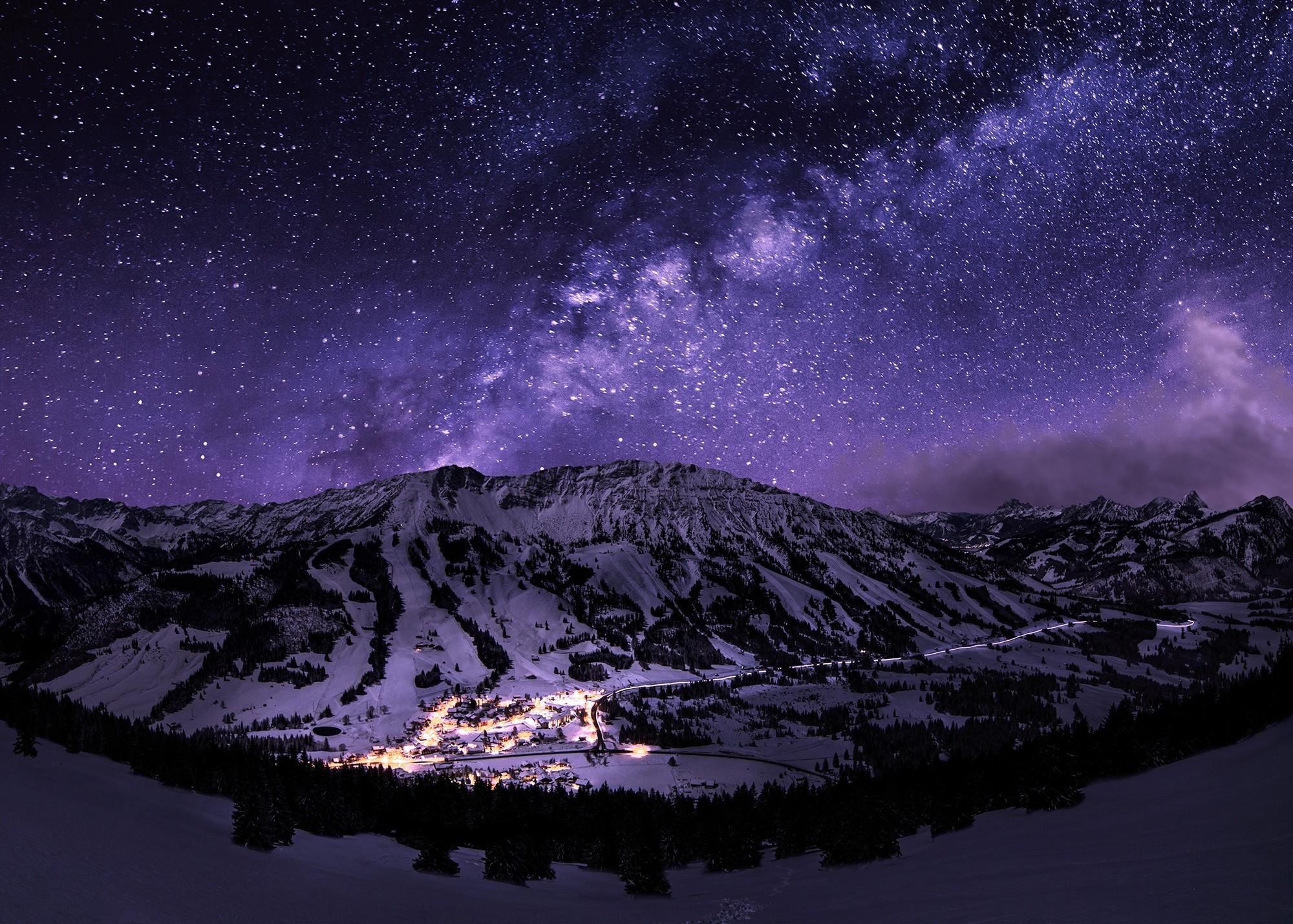 Simple Wallpaper Night Landscape - 2000x1429-px-galaxy-landscape-long-exposure-mountain-night-snow-starry-night-stars-town-1104900  Gallery-825484.jpg