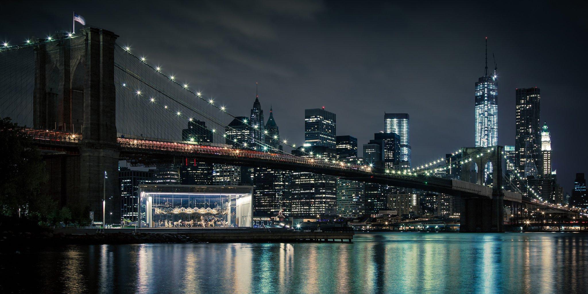 Панорамные картинки ночной город