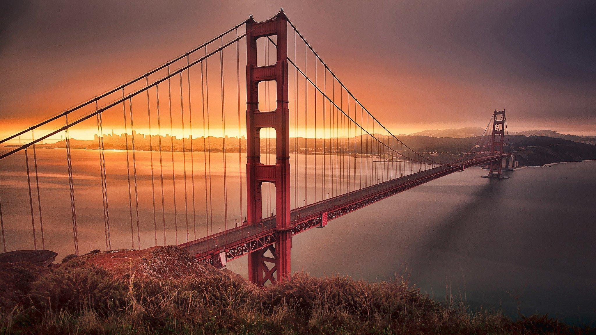 Sfondi 2048x1152 px golden gate bridge san francisco for Sfondi 2048x1152