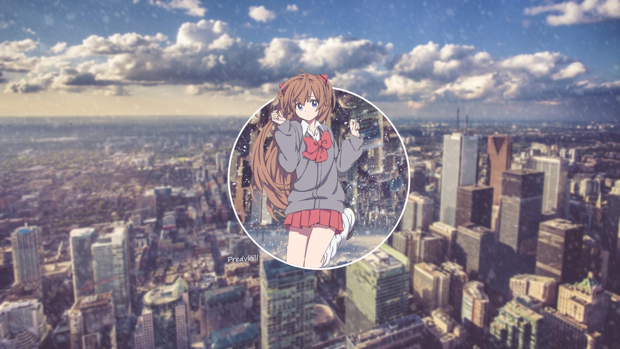 デスクトップ壁紙 2048x1152 px アニメの女の子 2048x1152 goodfon