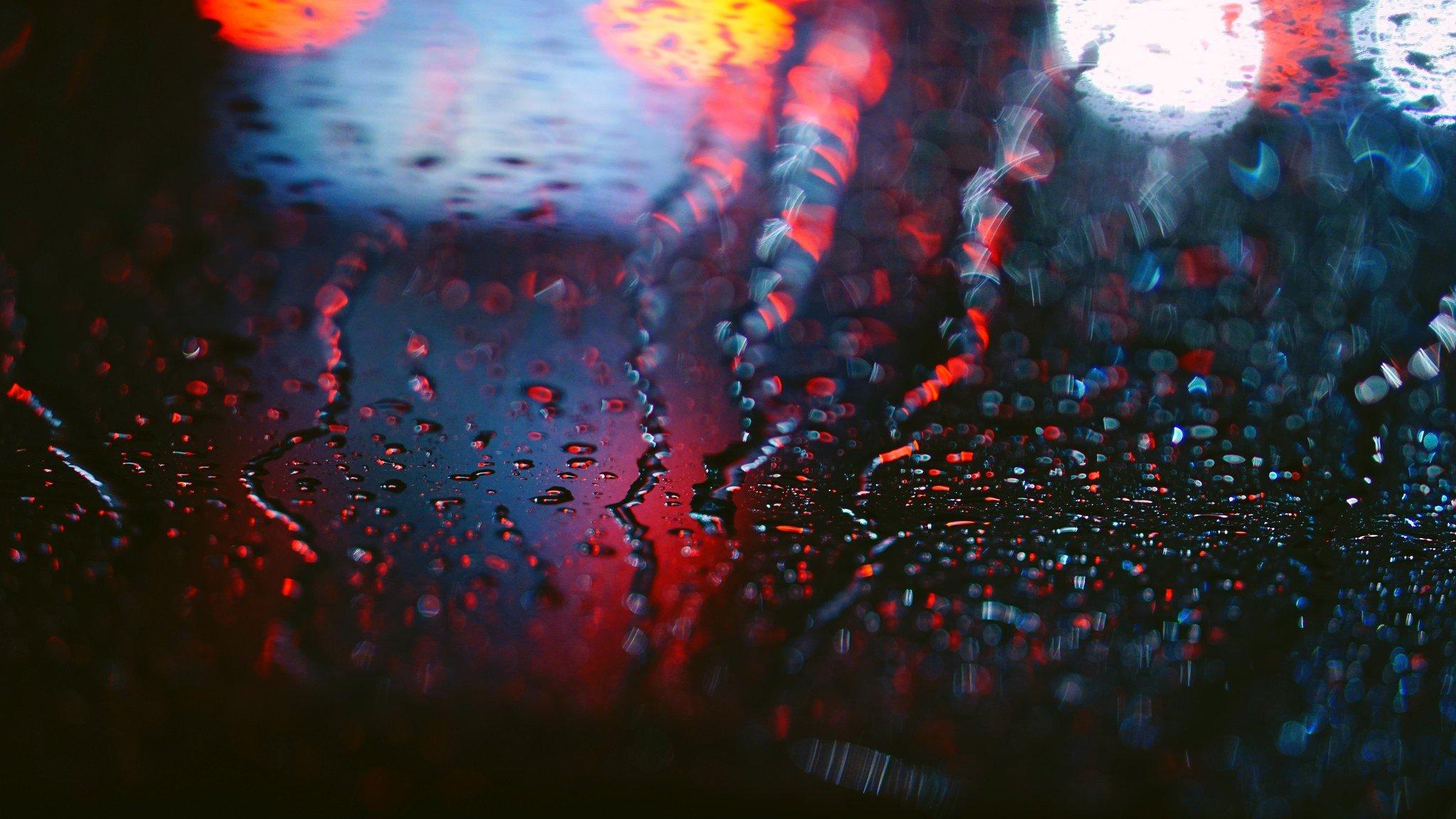 обои 2048x1152 Px боке глубина резкости макрос дождь
