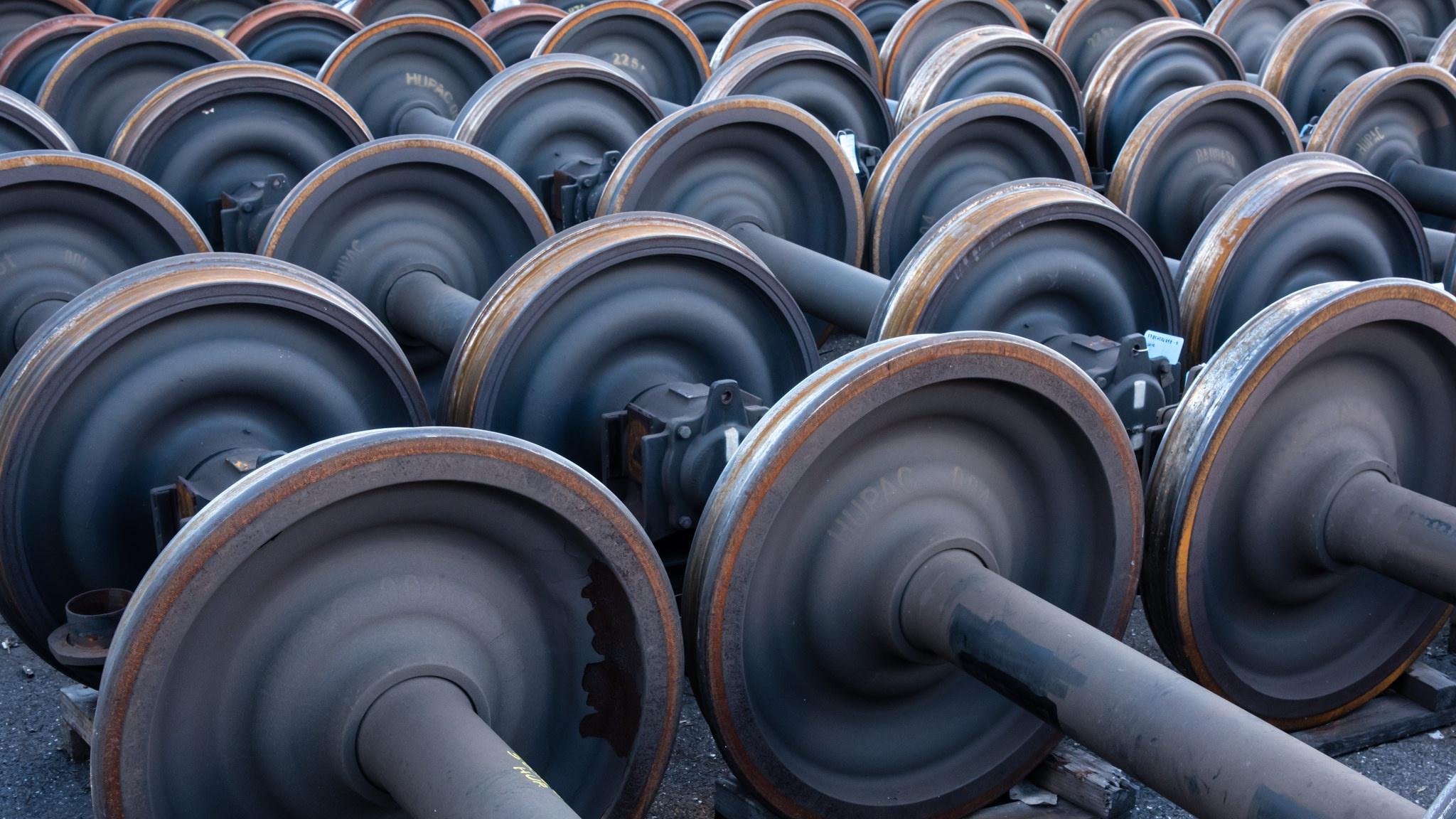 Fond Décran 2048x1152 Px Métal Cour Ferroviaire Roues