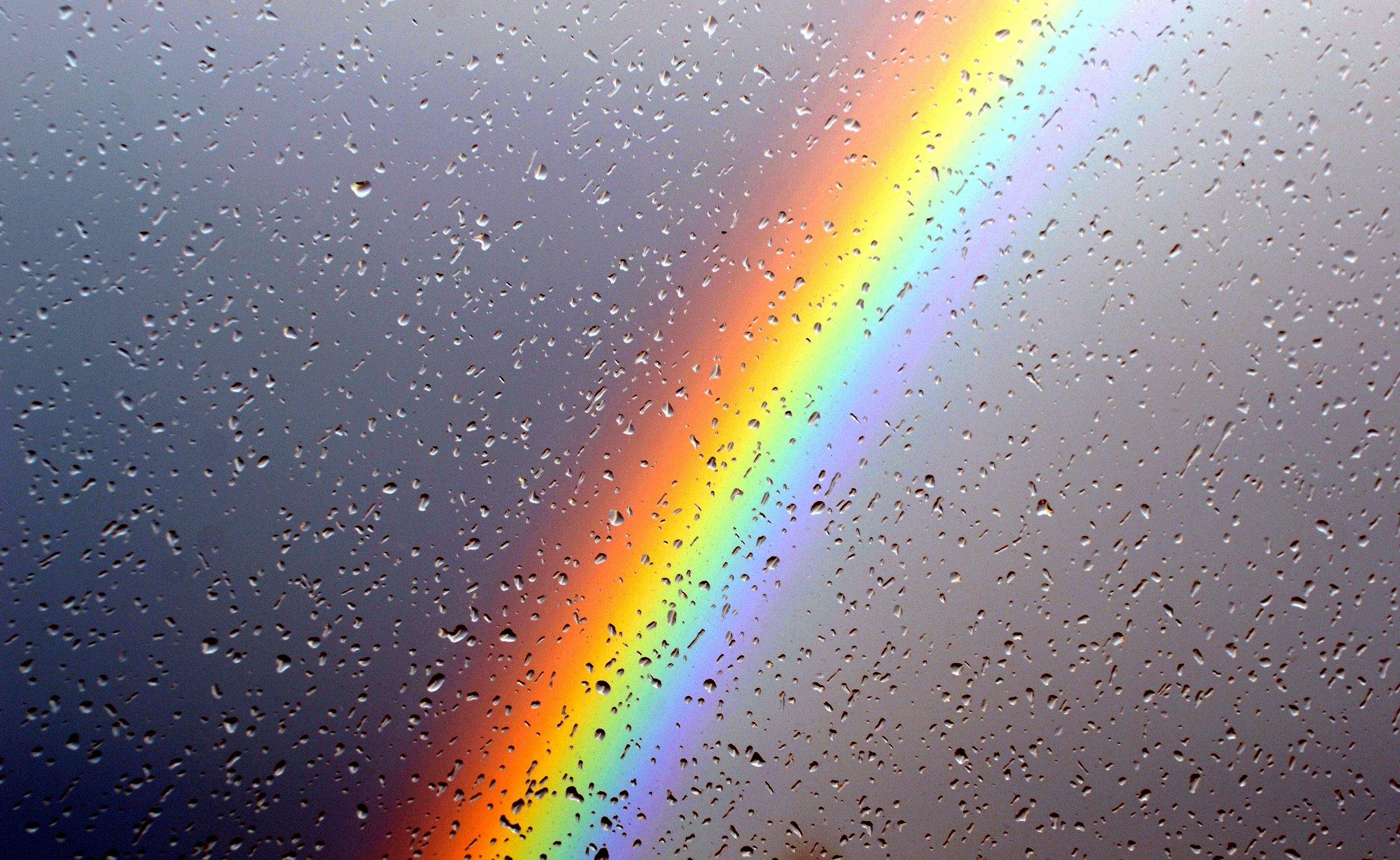 Wallpaper : 2048x1258 px, hujan, pelangi, tetes air ...