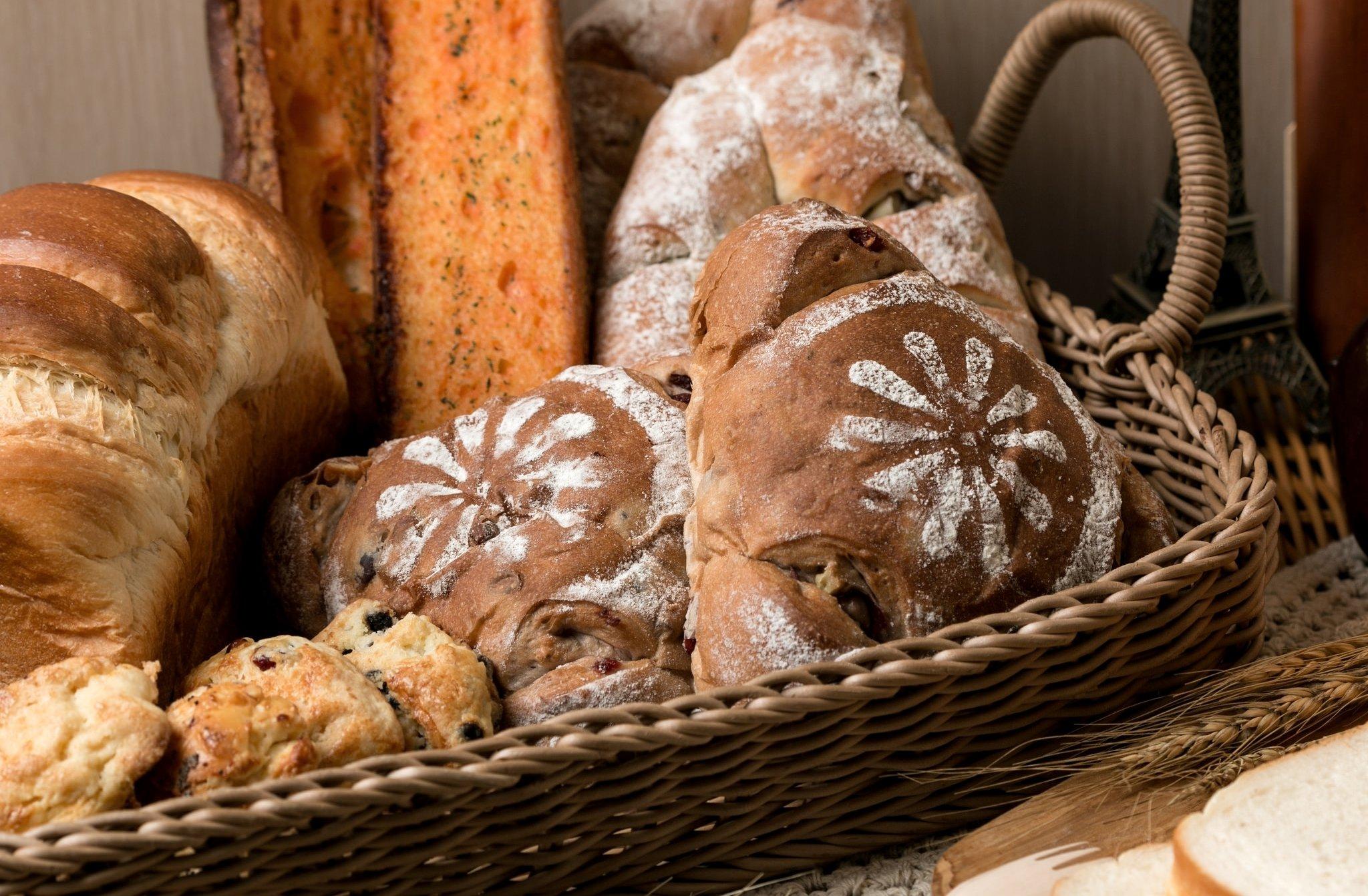 Картинки корзина с хлебом