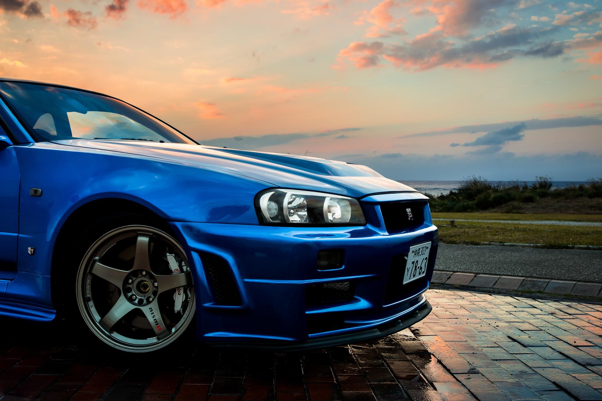 2048x1365 Px Blue Car JDM Nissan Skyline GT R R34