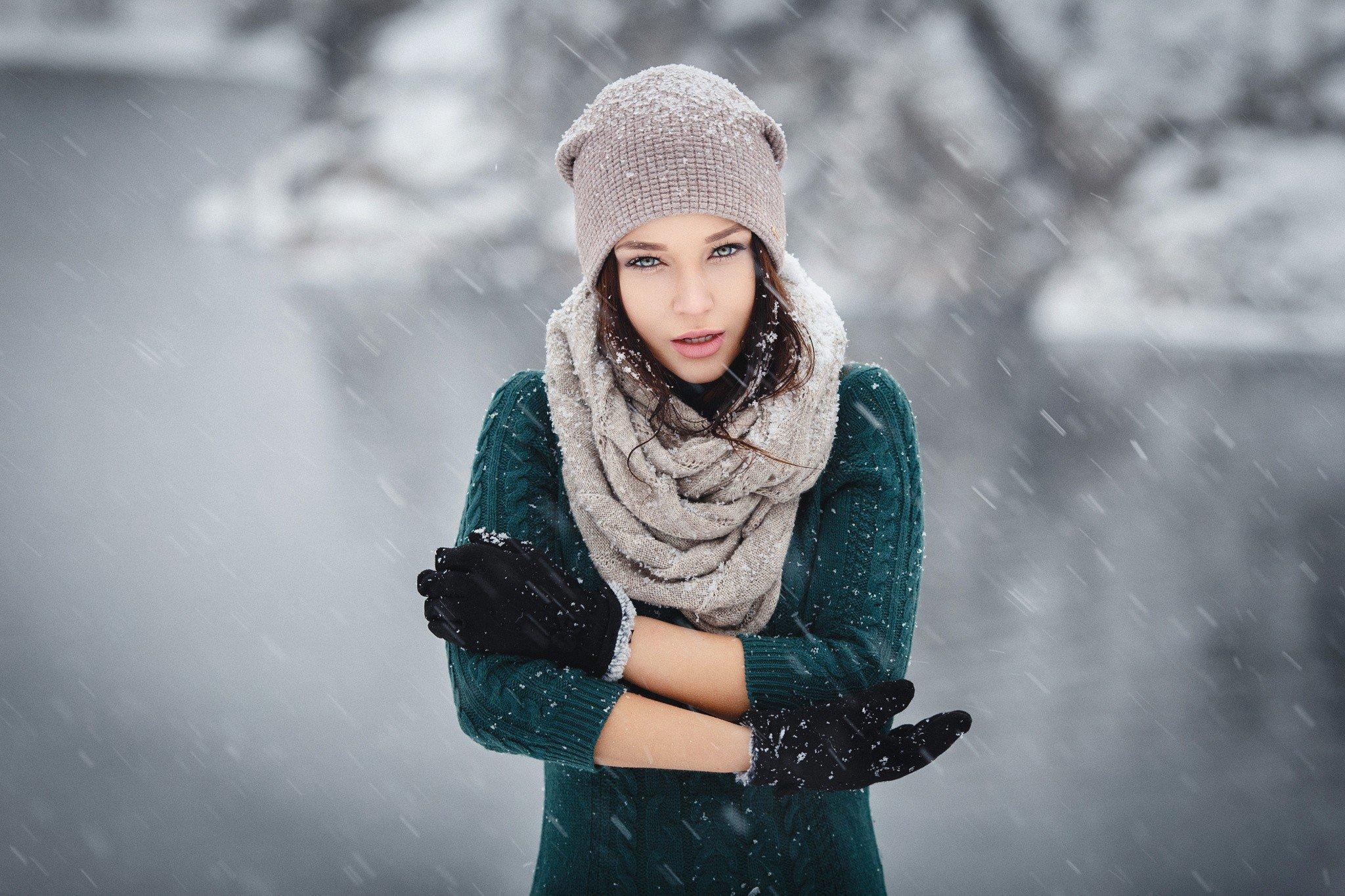 фотосессия зимой на снегу маток отсаживаю