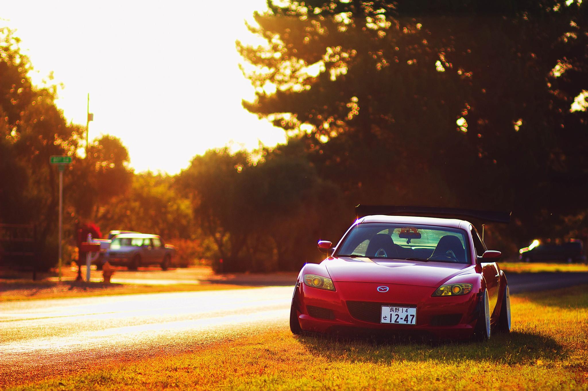 Wallpaper 2048x1365 Px Drift Evening Lights Mazda Rx 8
