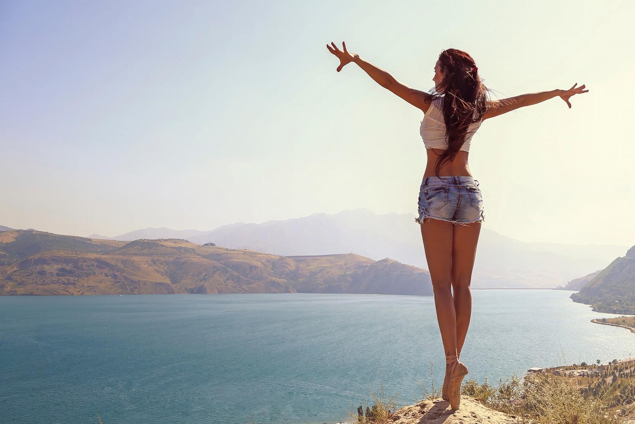 2048x1366 Px Ballet Jeans Landscape Legs Women