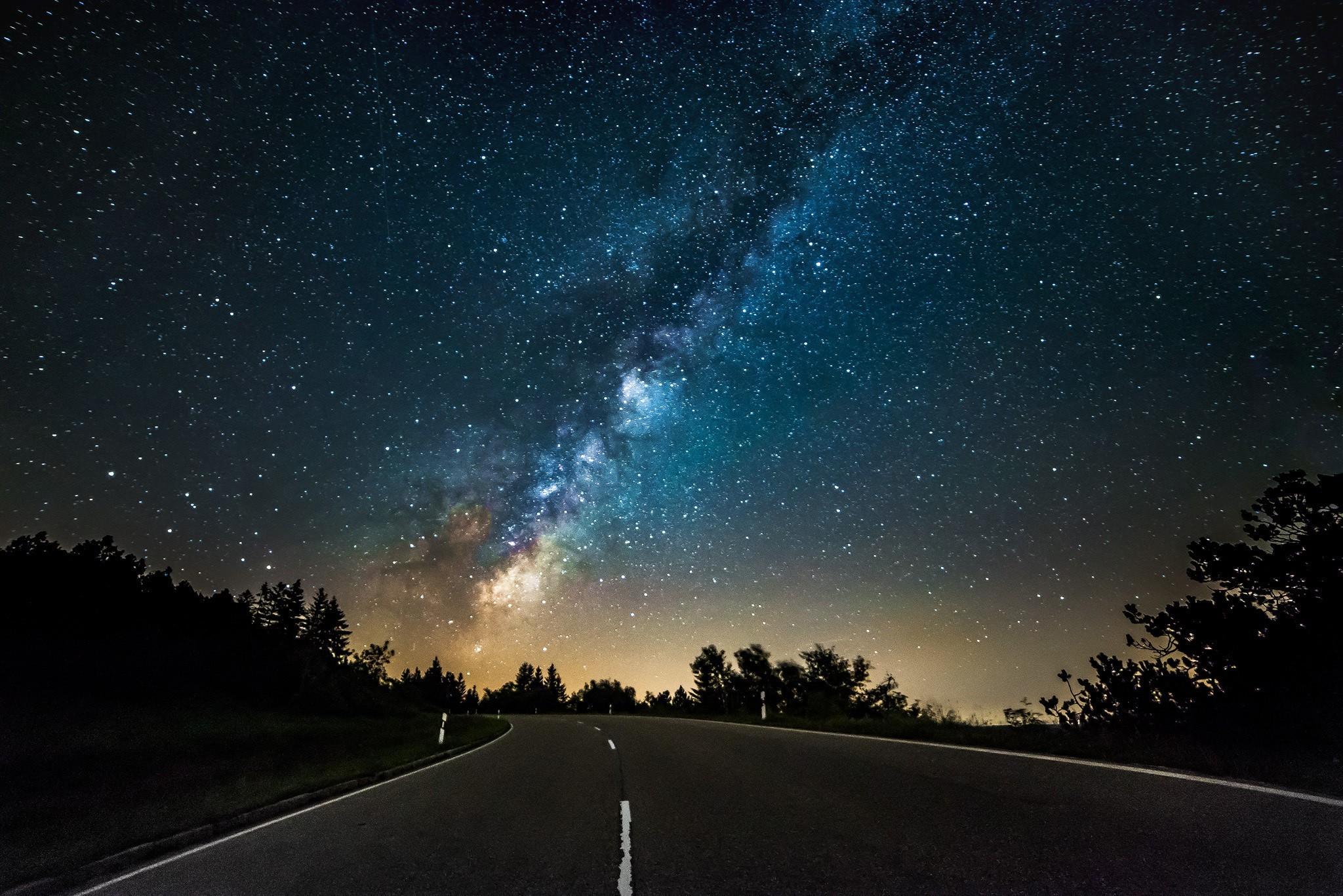 2048x1367 Px Landscape Night Stars Street
