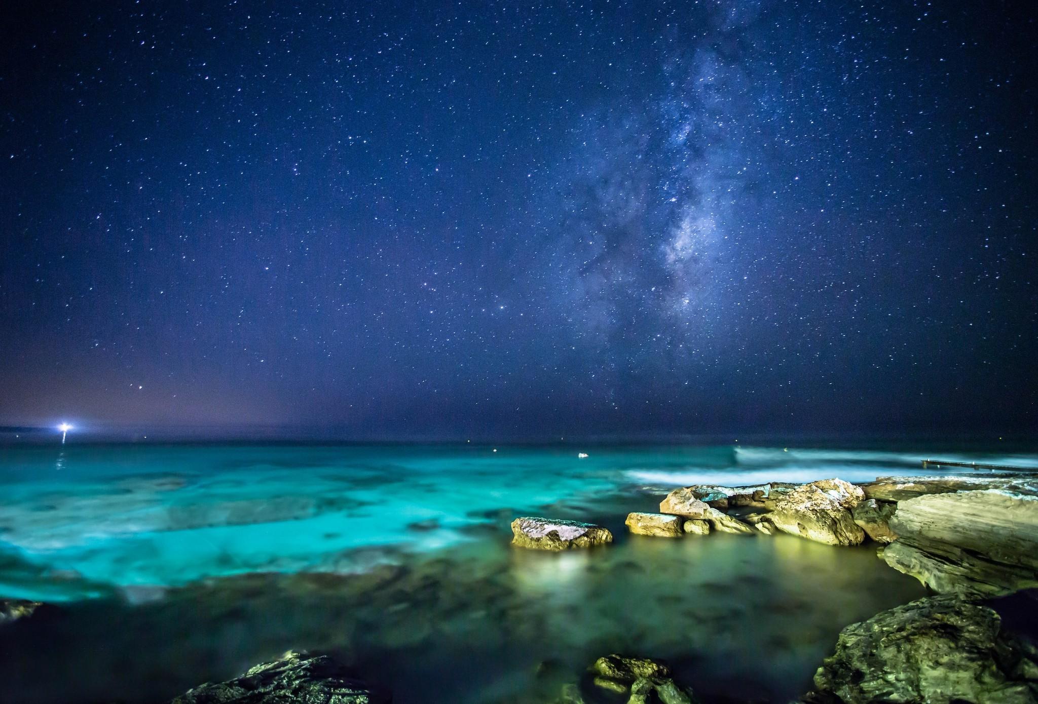 2048x1390 Px Landscape Night Sea Stars
