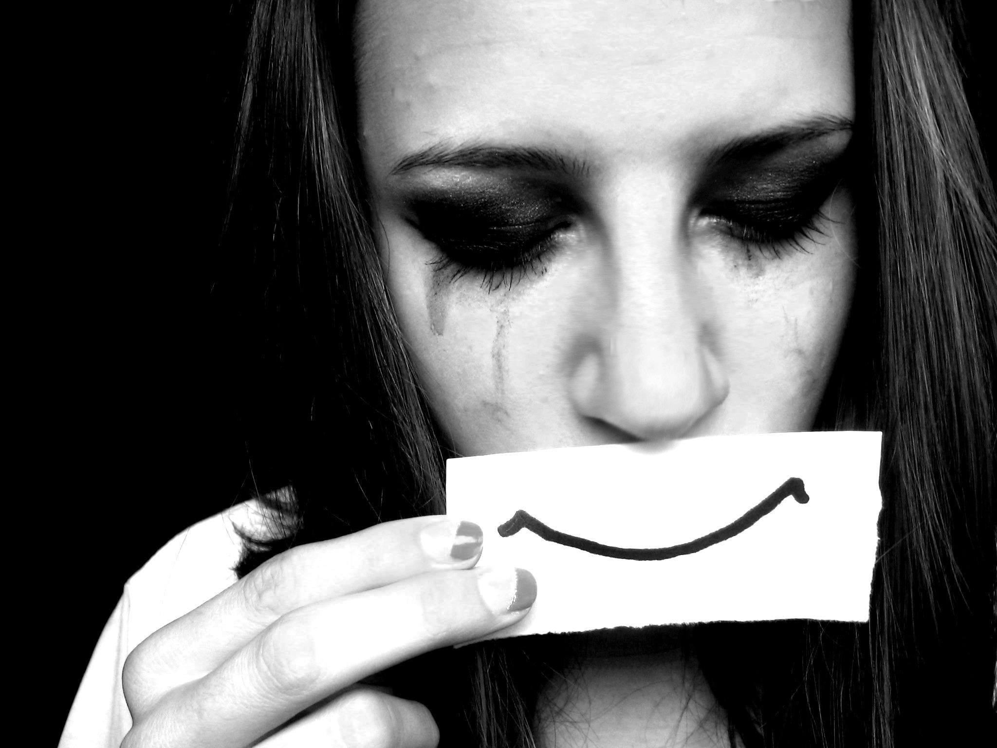 Грустная картинка на аву слезы