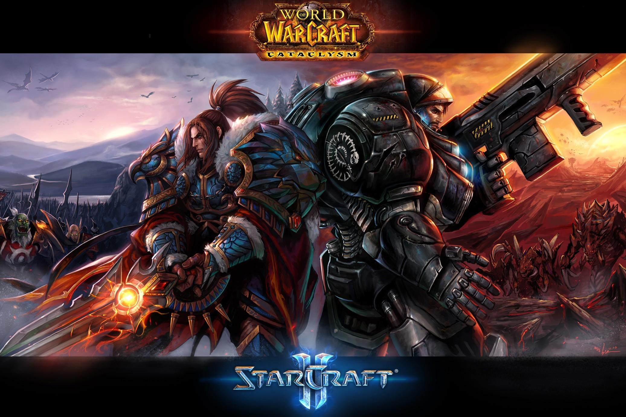 Wallpaper 2073x1382 Px Starcraft Ii World Of Warcraft
