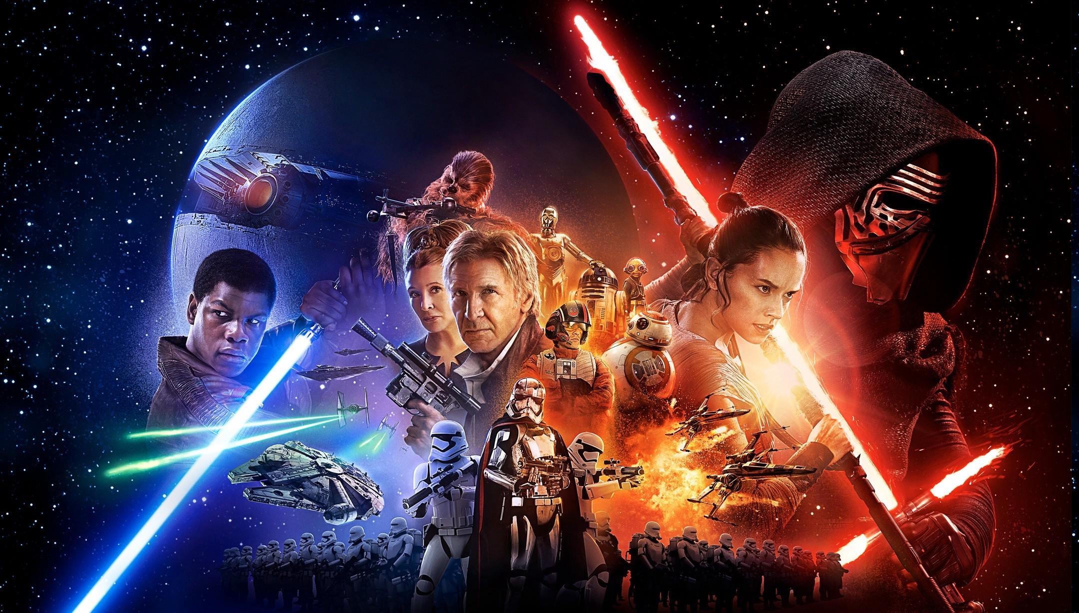 Wallpaper 2159x1227 Px Bb 8 C 3po Captain Phasma Chewbacca Han Solo Jedi Kylo Ren Lightsaber Luke Skywalker Millennium Falcon R2 D2 Sith Star Wars Star Wars Episode Vii The Force
