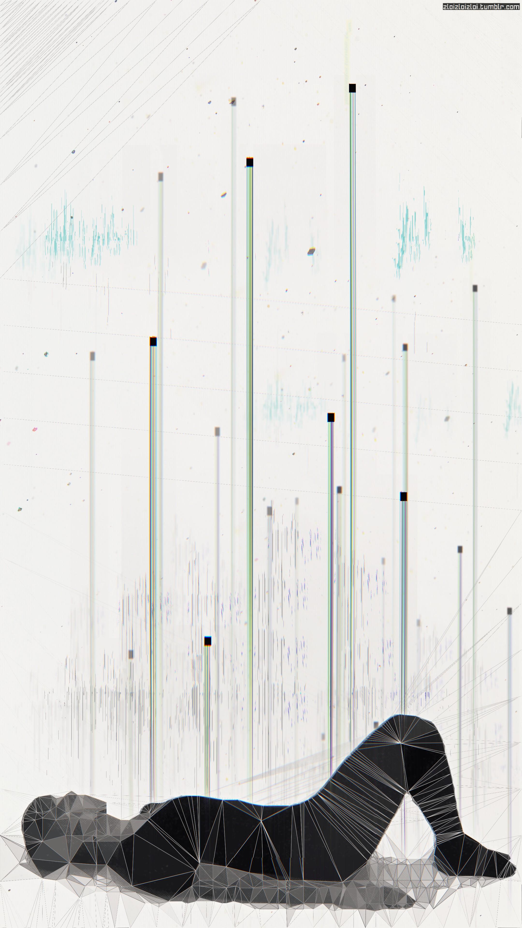 Wallpaper 2160x3840 px abstract cyberpunk glitch art - Art wallpaper 2160x3840 ...