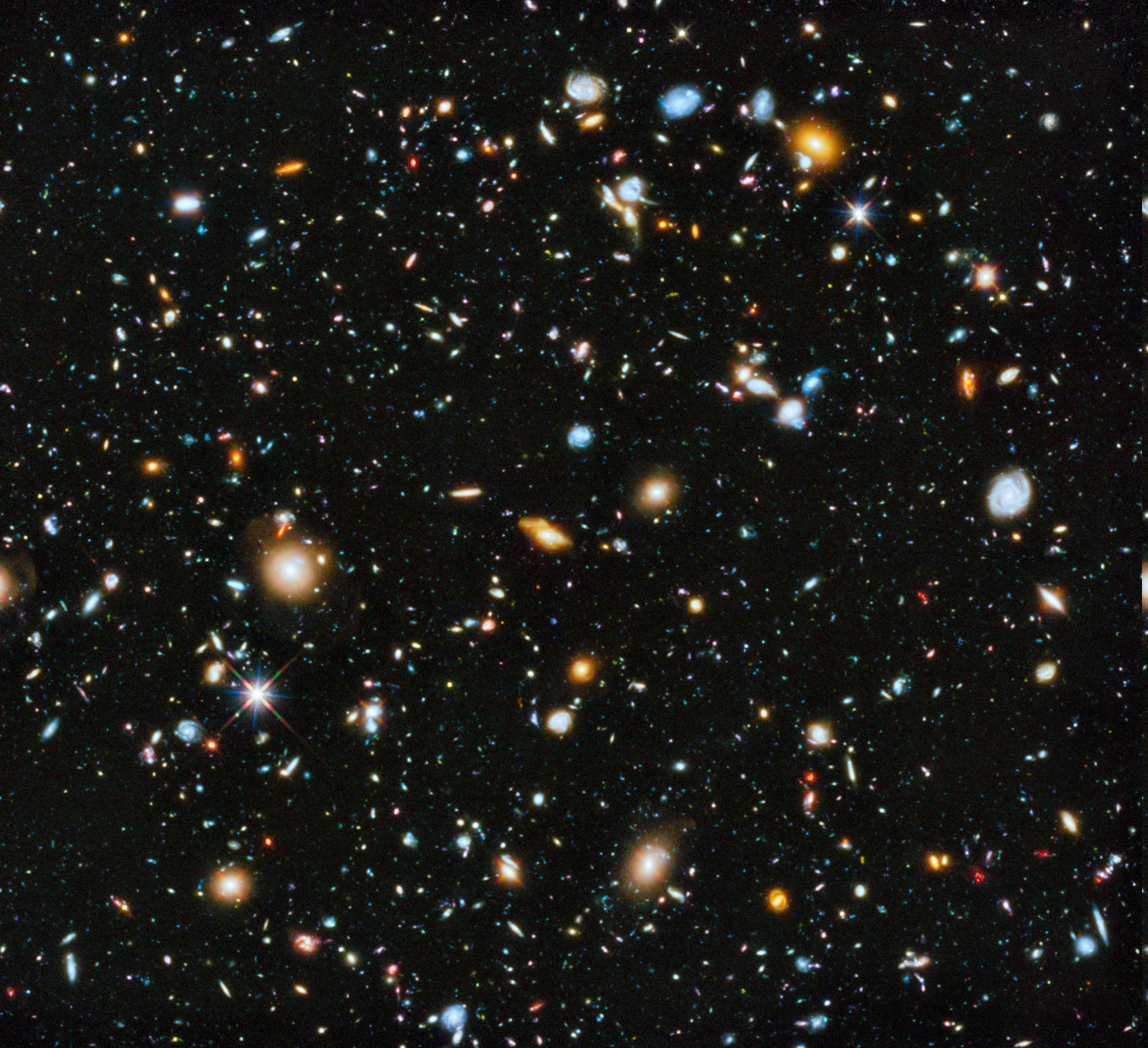 Wallpaper 2300x2100 Px Deep Space Galaxy Hubble Deep